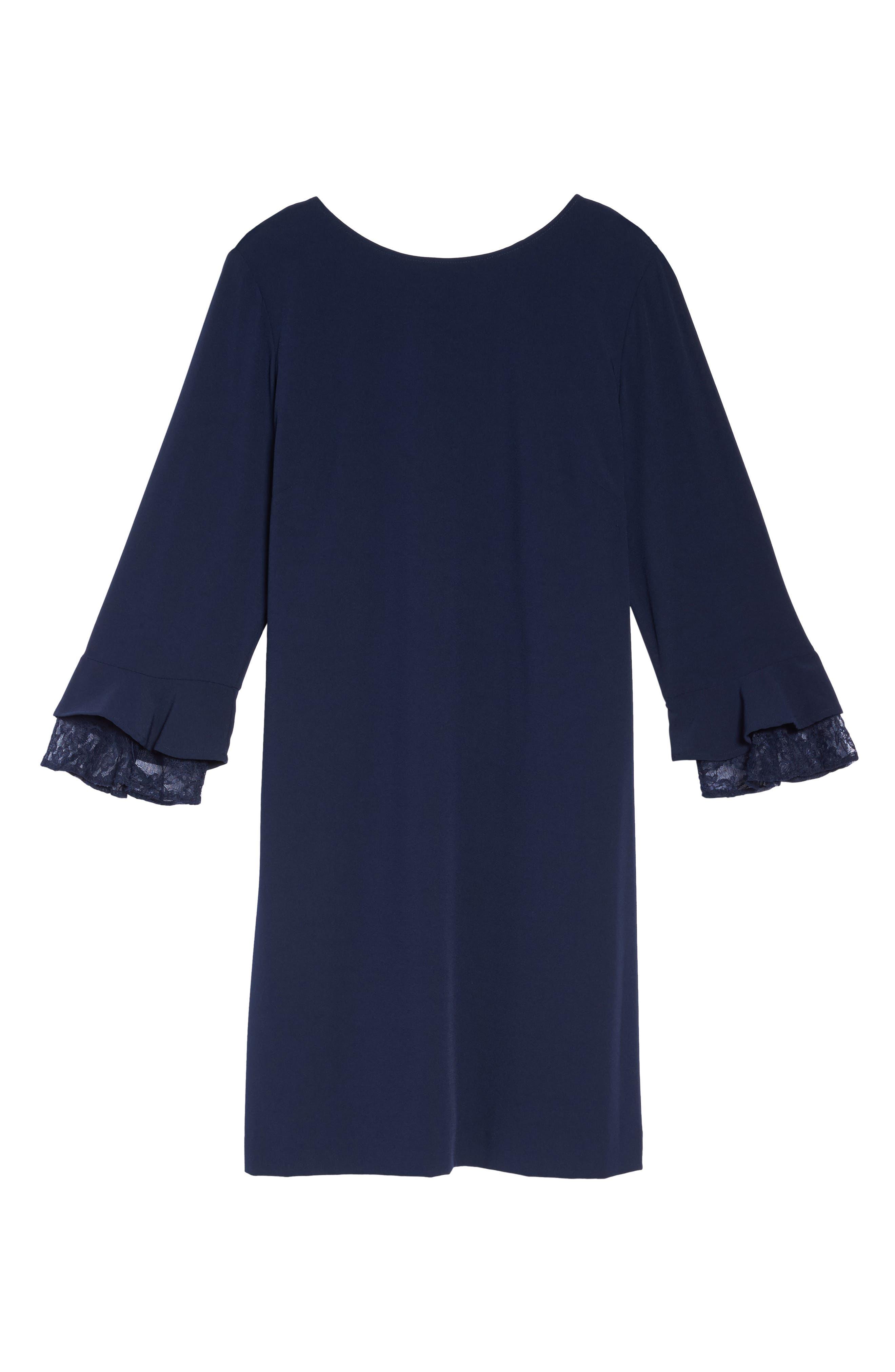 Alternate Image 6  - Tahari Lace Trim Shift Dress (Plus Size)