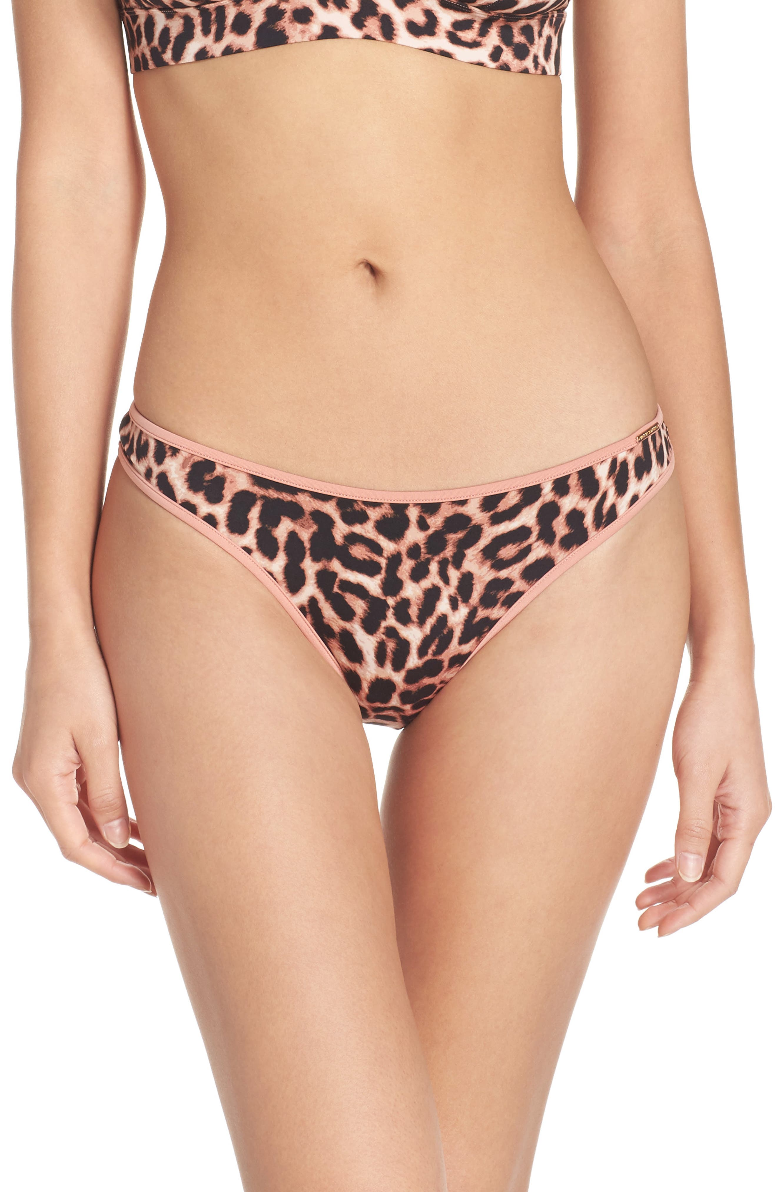 Penelope Thong,                             Main thumbnail 1, color,                             Leopard Print