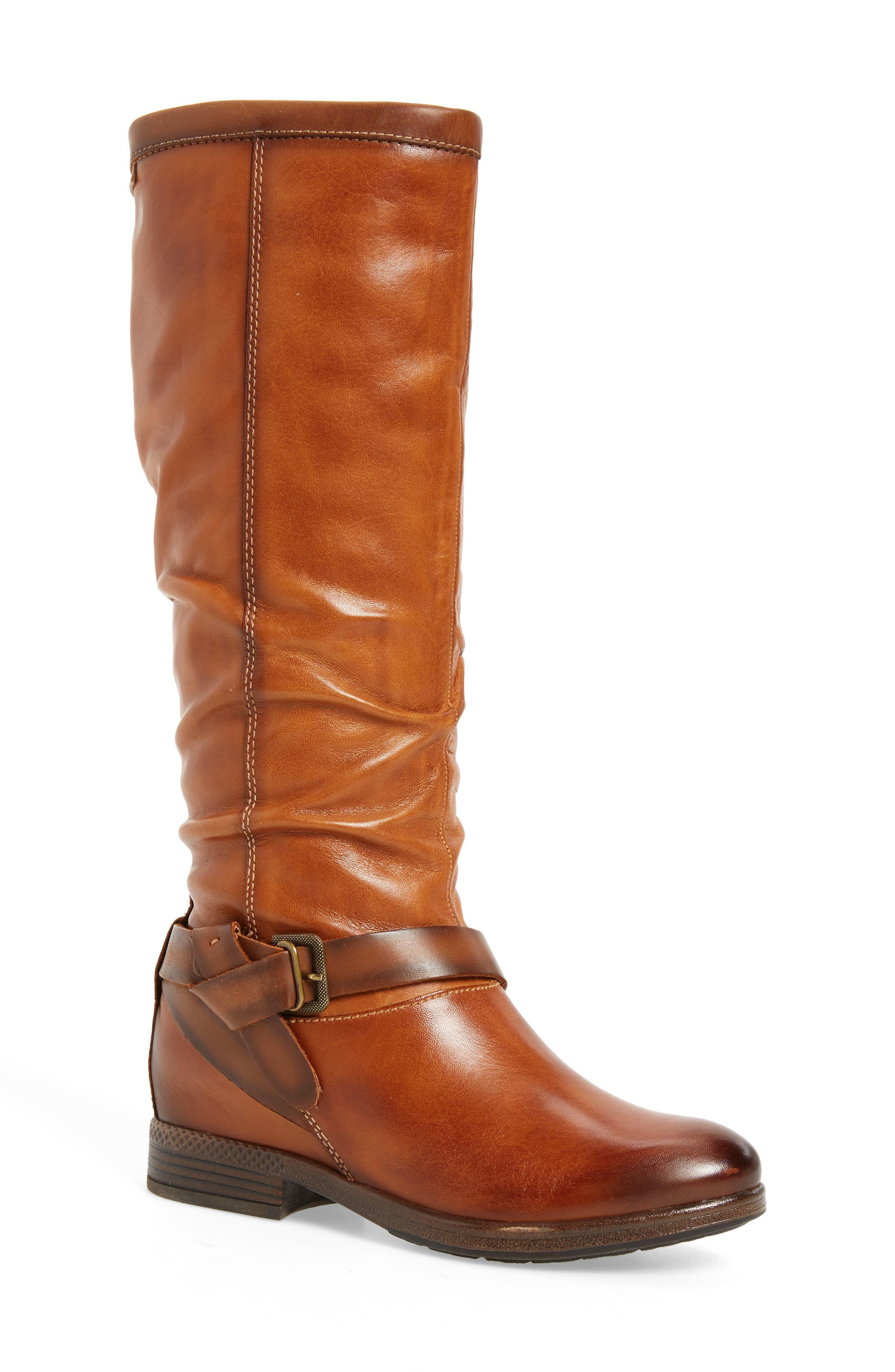 Ordino Knee High Boot,                             Main thumbnail 1, color,                             Brandy Cuero Leather