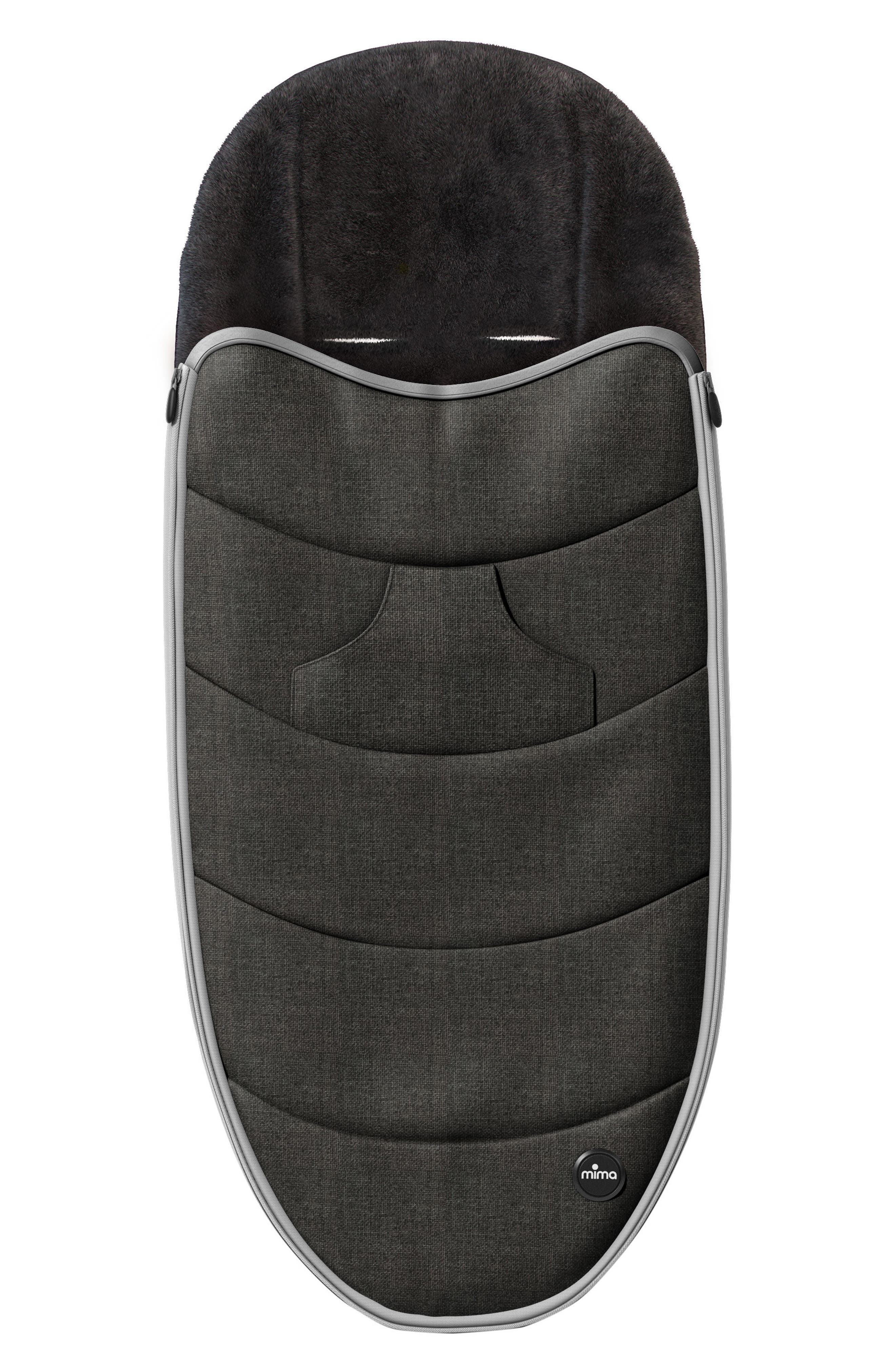 Footmuff for Zigi Strollers,                         Main,                         color, Charcoal