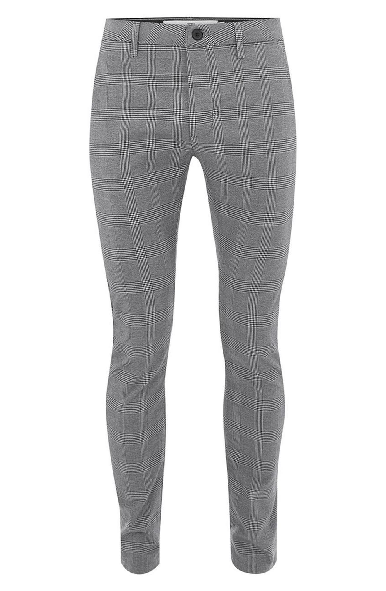 Alternate Image 4  - Topman Stretch Skinny Fit Check Trousers