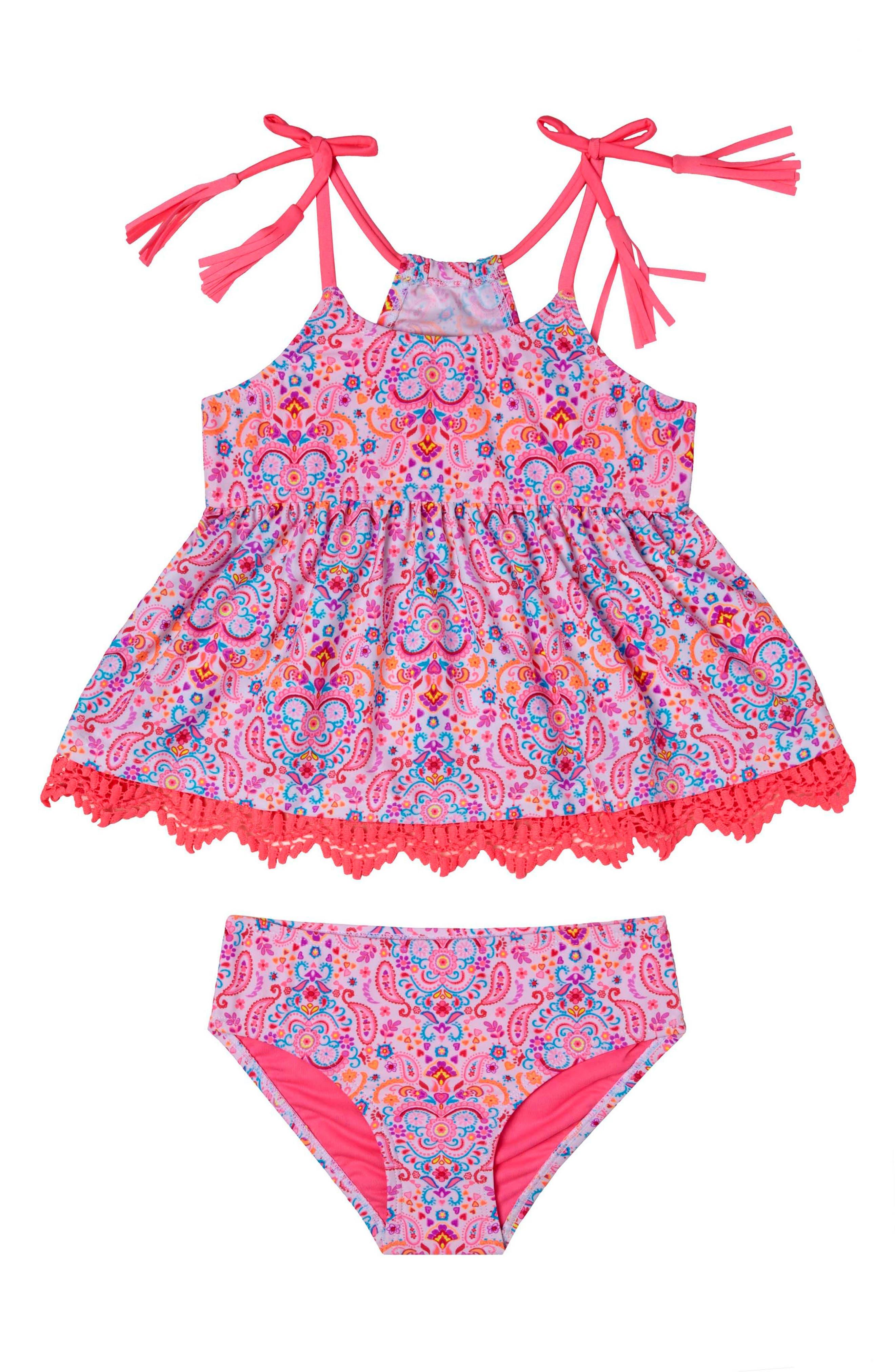 Hula Star Pretty Paisley Two-Piece Swimsuit (Toddler Girls & Little Girls)