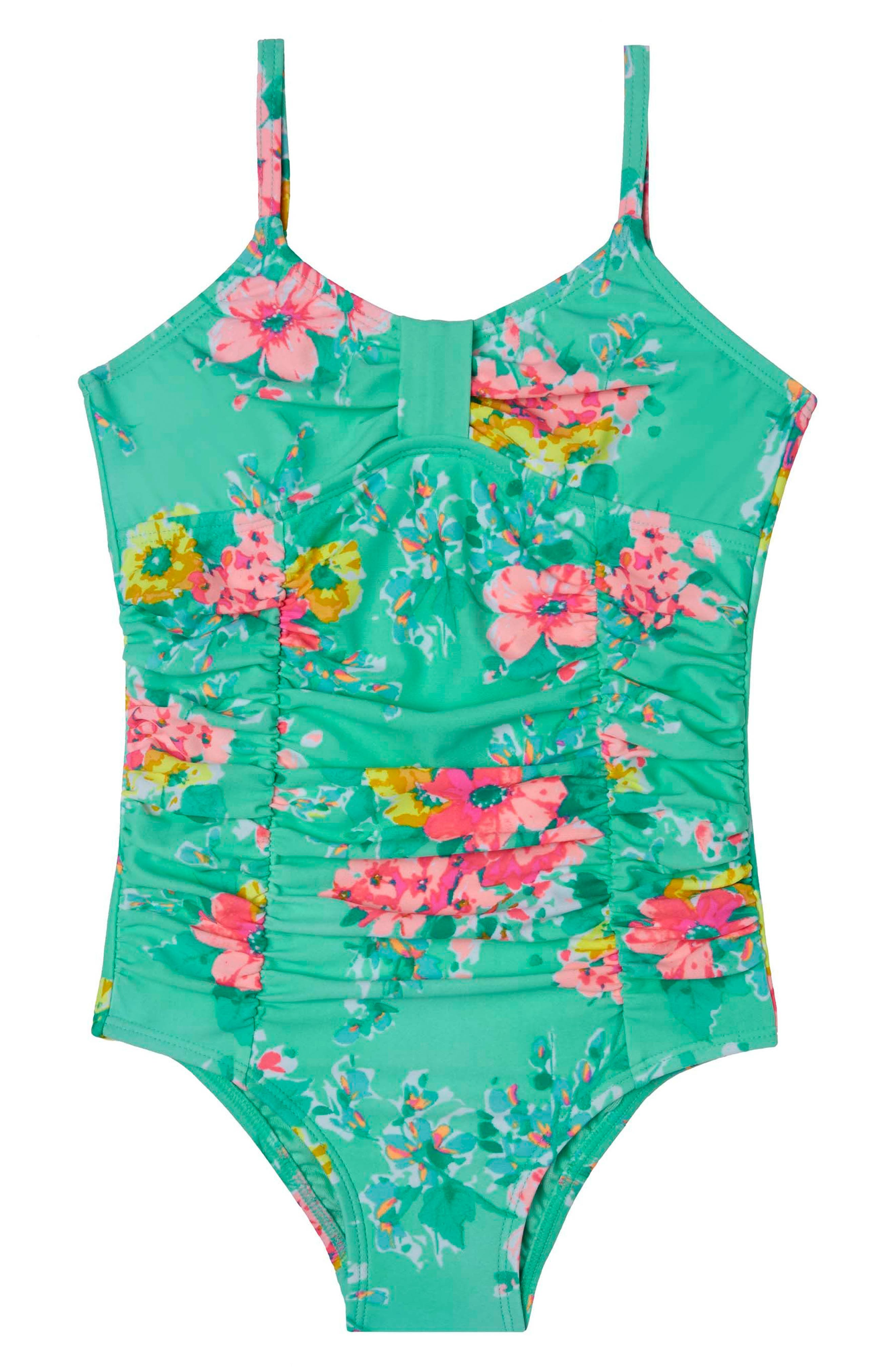 Hula Star Garden Dream One-Piece Swimsuit (Toddler Girls & Little Girls)