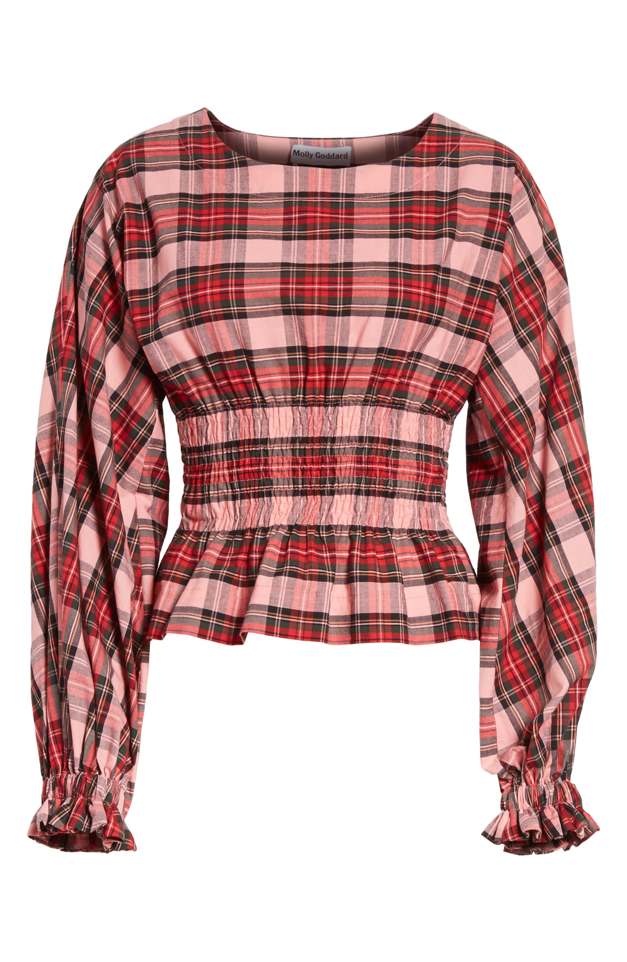 Ronnie Tartan Top,                             Alternate thumbnail 6, color,                             Pink