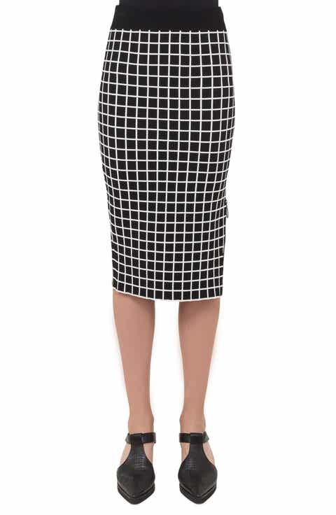 Akris punto Grid Knit Pencil Skirt