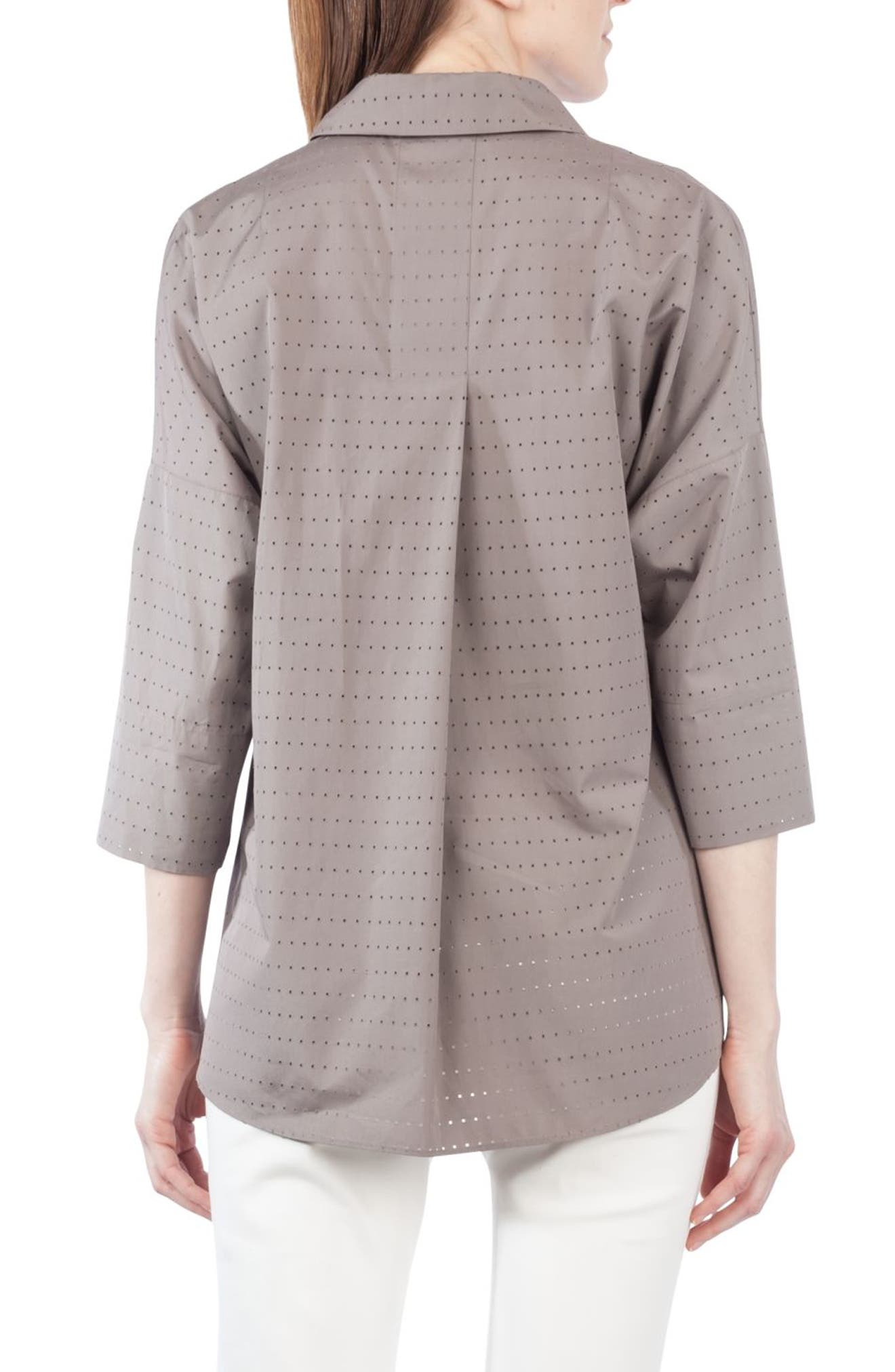 Alternate Image 2  - Akris punto Eyelet Embroidered Kimono Blouse