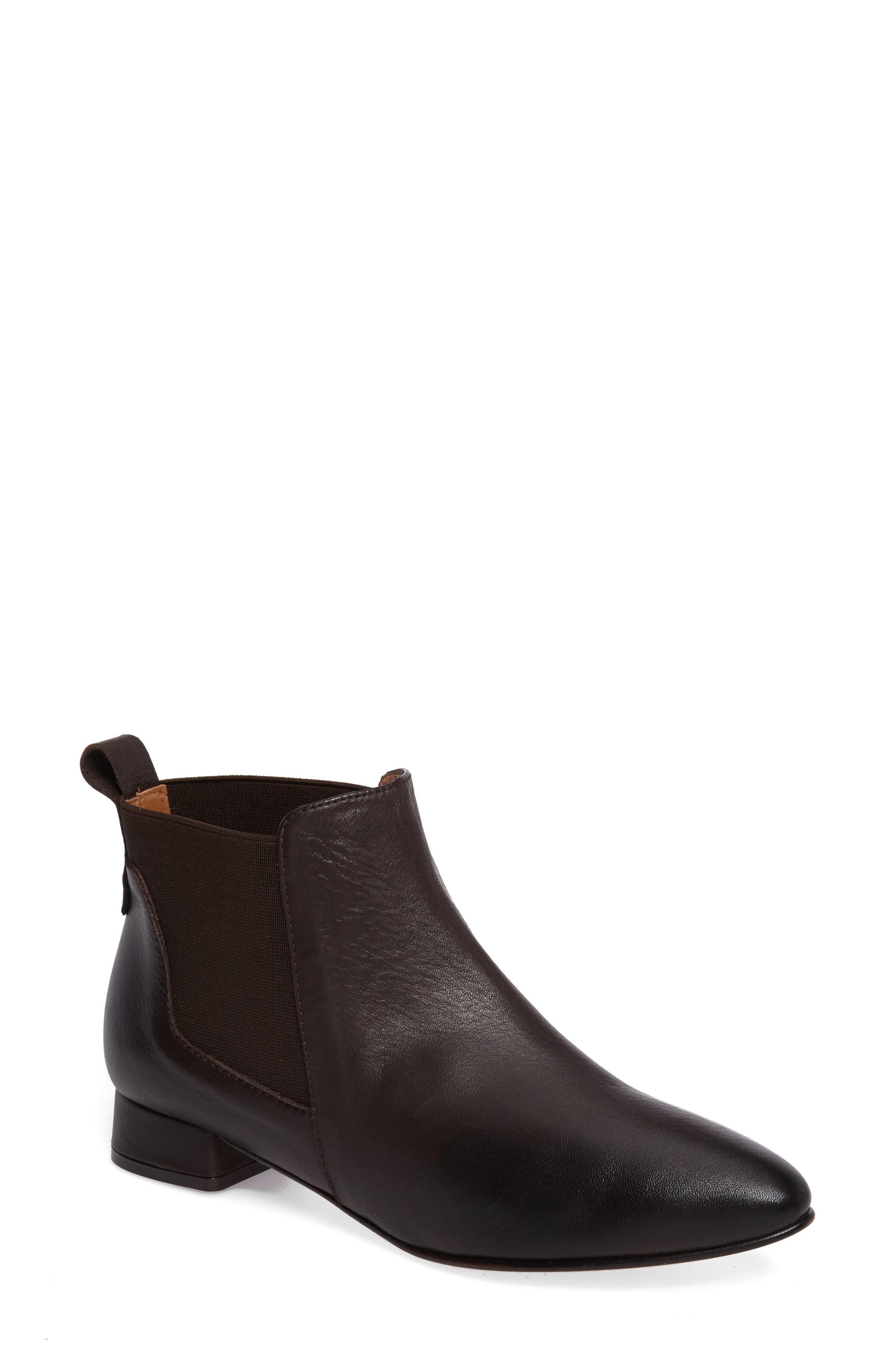 Newbury Bootie,                         Main,                         color, Chocolate Leather