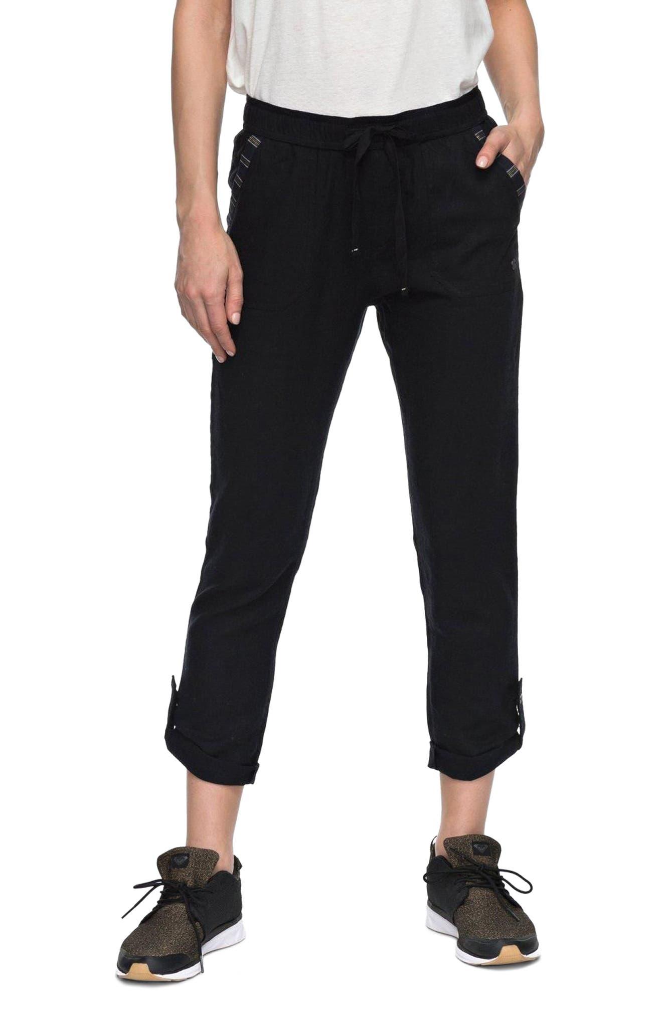 Alternate Image 1 Selected - Roxy Symphony Lover Linen Blend Pants