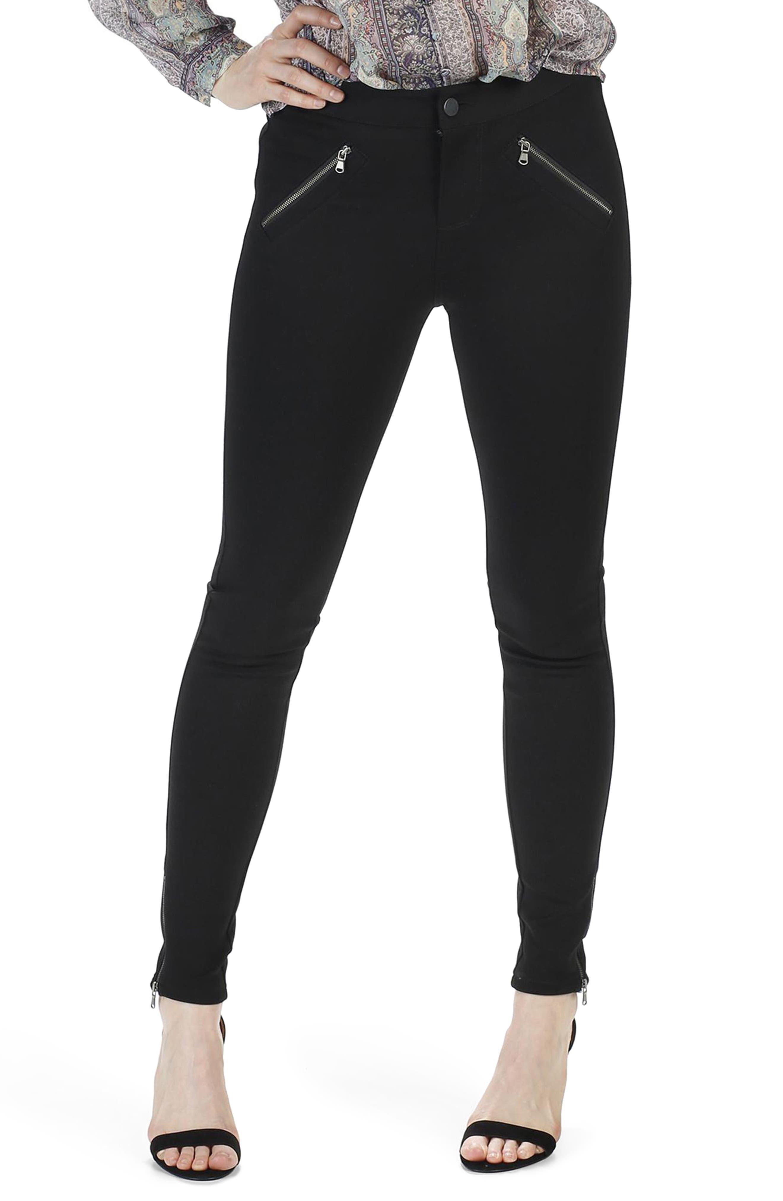 Simmons Ankle Skinny Ponte Pants,                         Main,                         color, Black