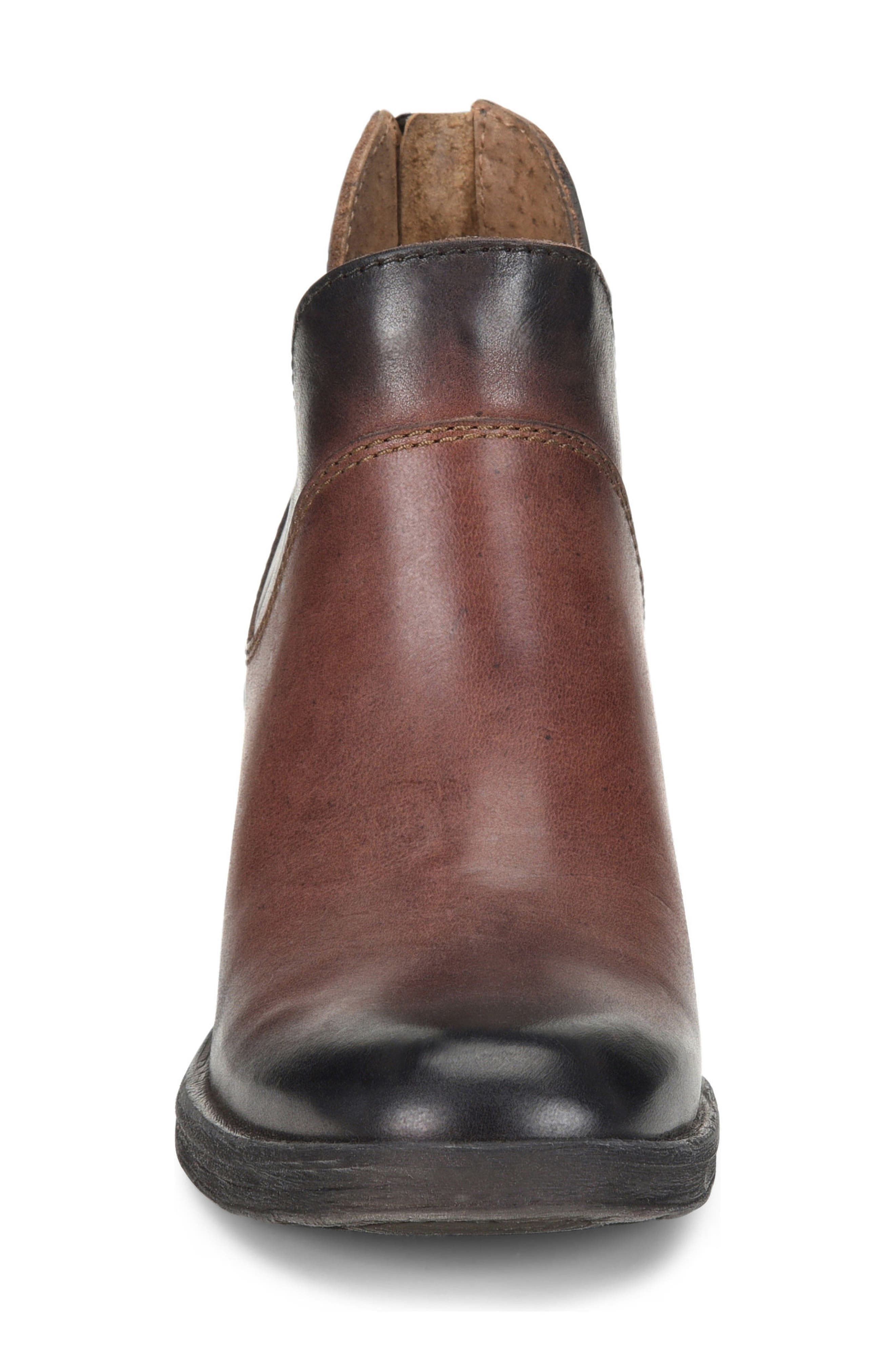 Chisel Bootie,                             Alternate thumbnail 4, color,                             Brown Leather
