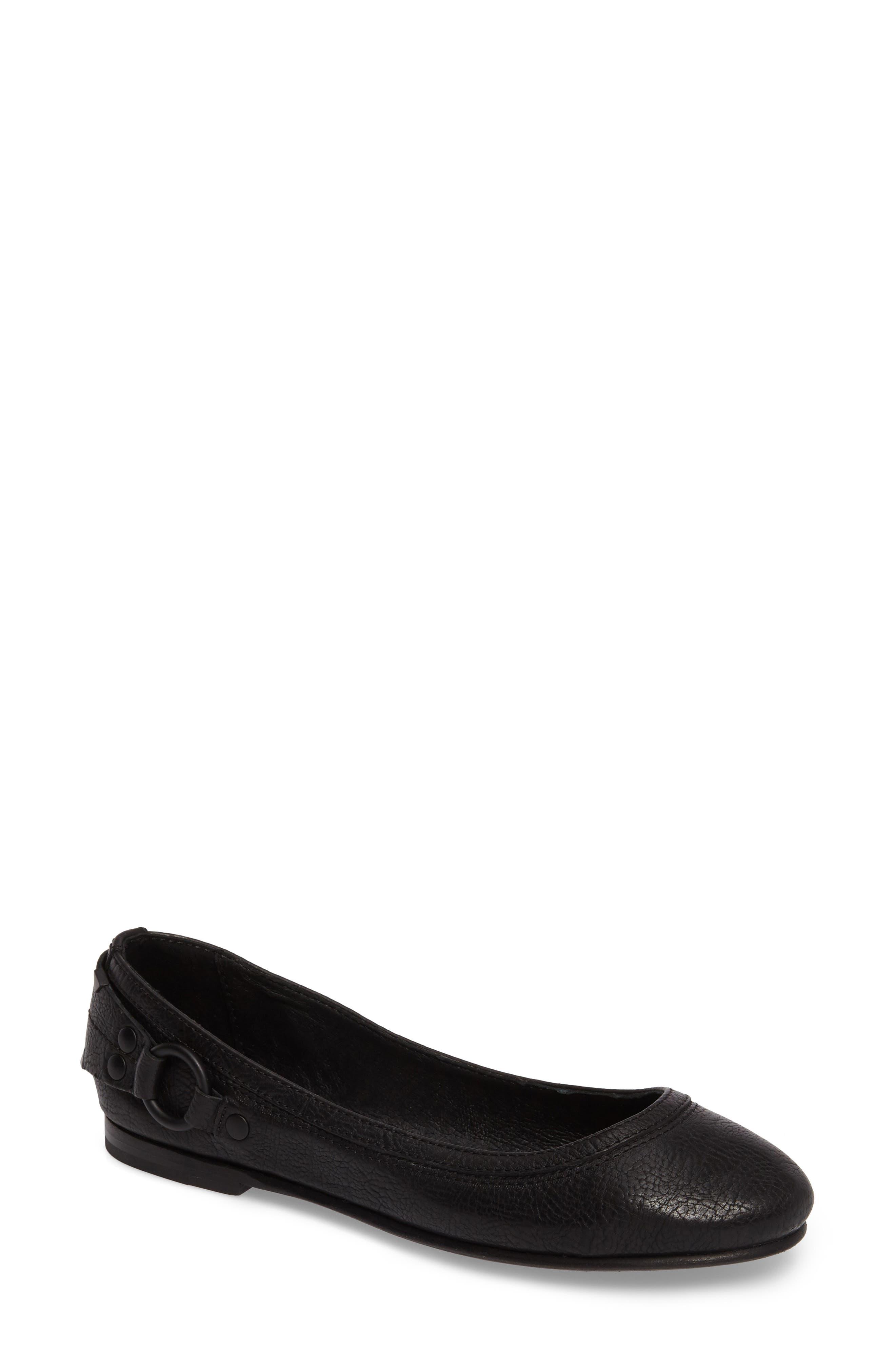 'Carson Stud' Flat,                         Main,                         color, Black