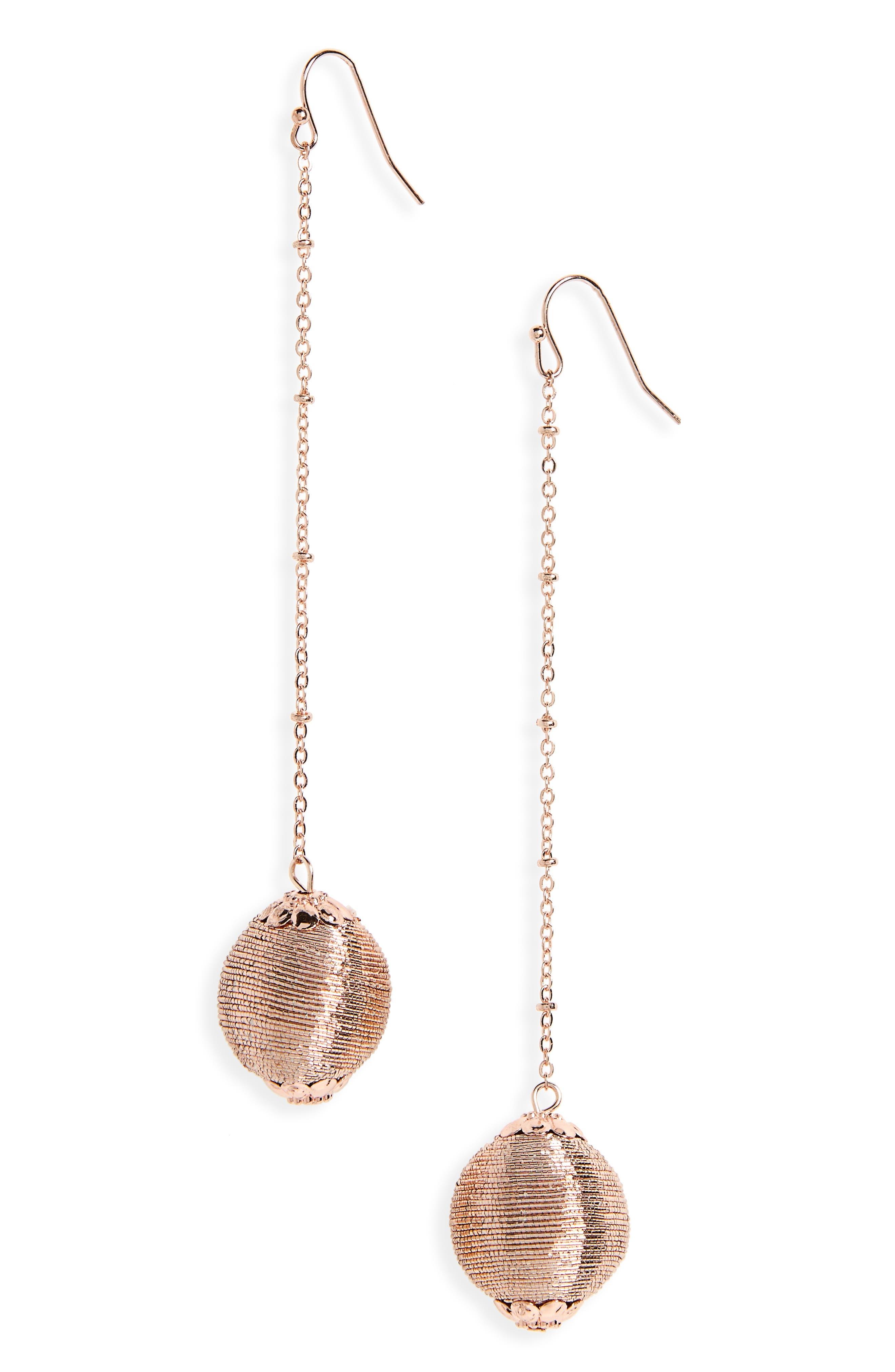 BP. Dangle Ball Earrings
