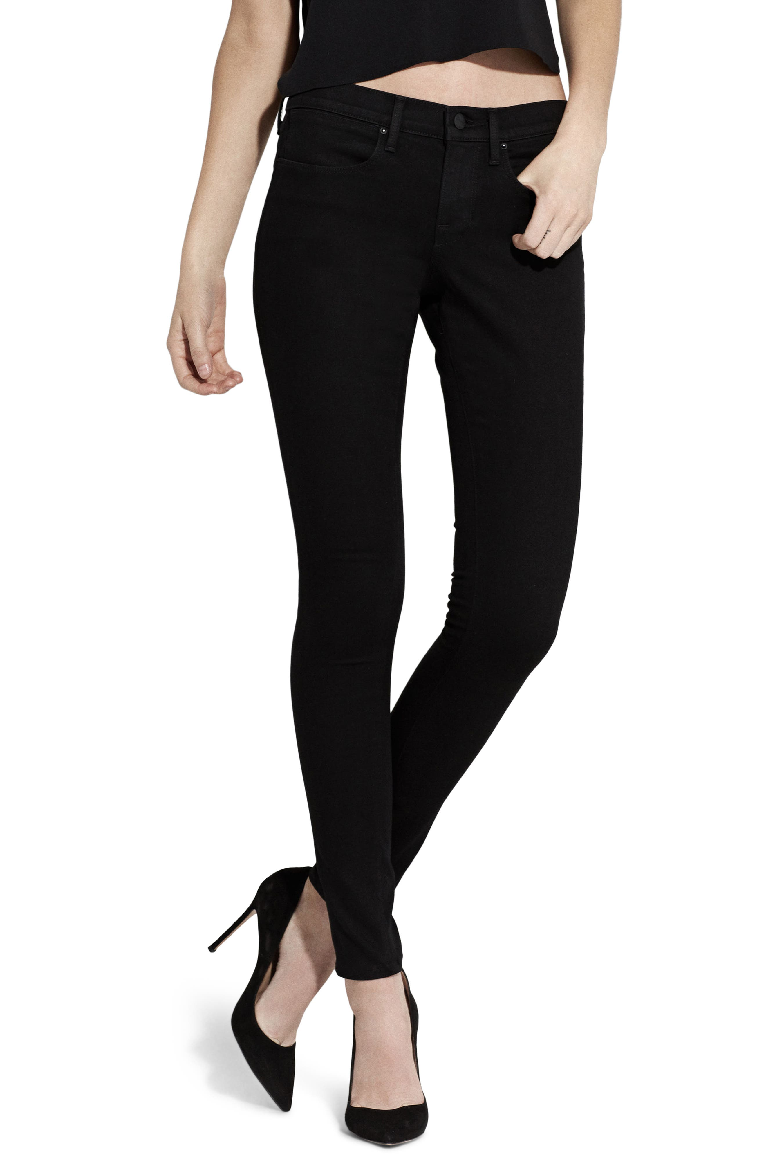 The Skinny Jeans,                         Main,                         color, Jet Black