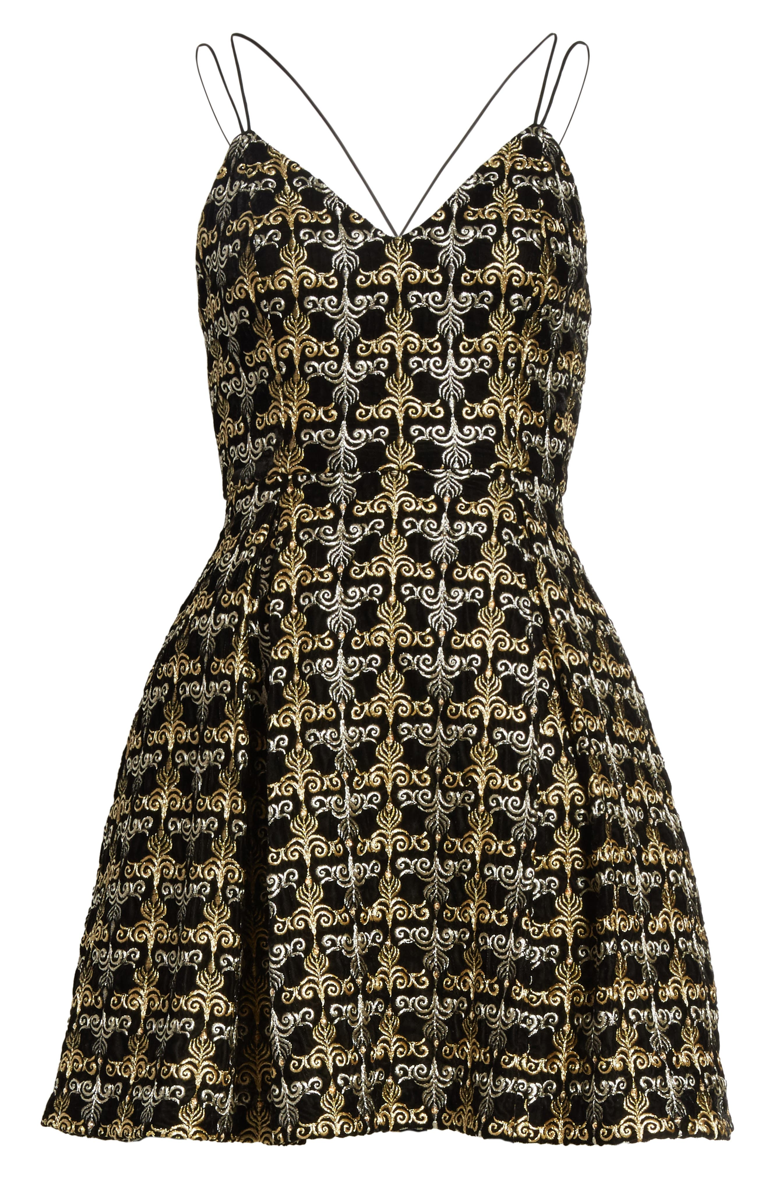Alternate Image 6  - Alice + Olivia Marilla Embroidered Strappy Dress