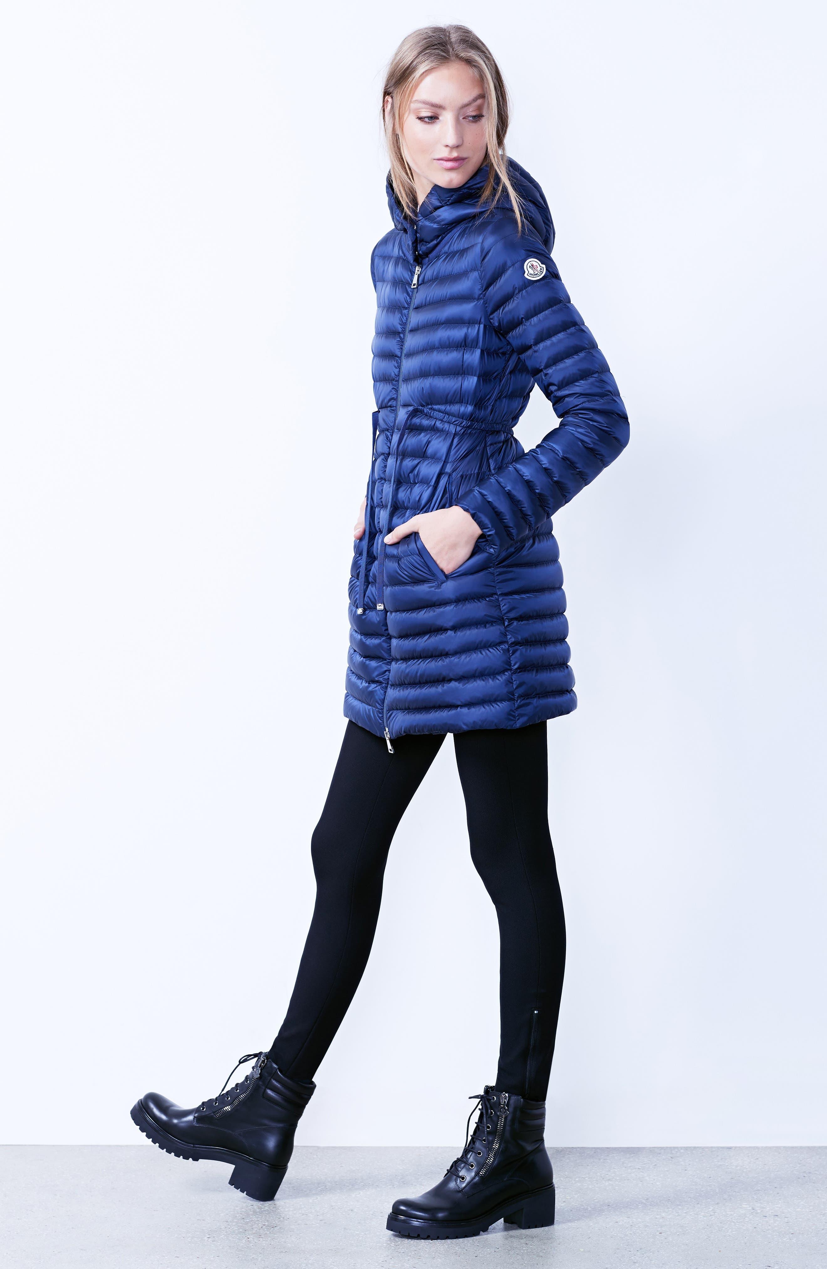 Alternate Image 2  - Moncler Barbel Water Resistant Long Hooded Down Jacket