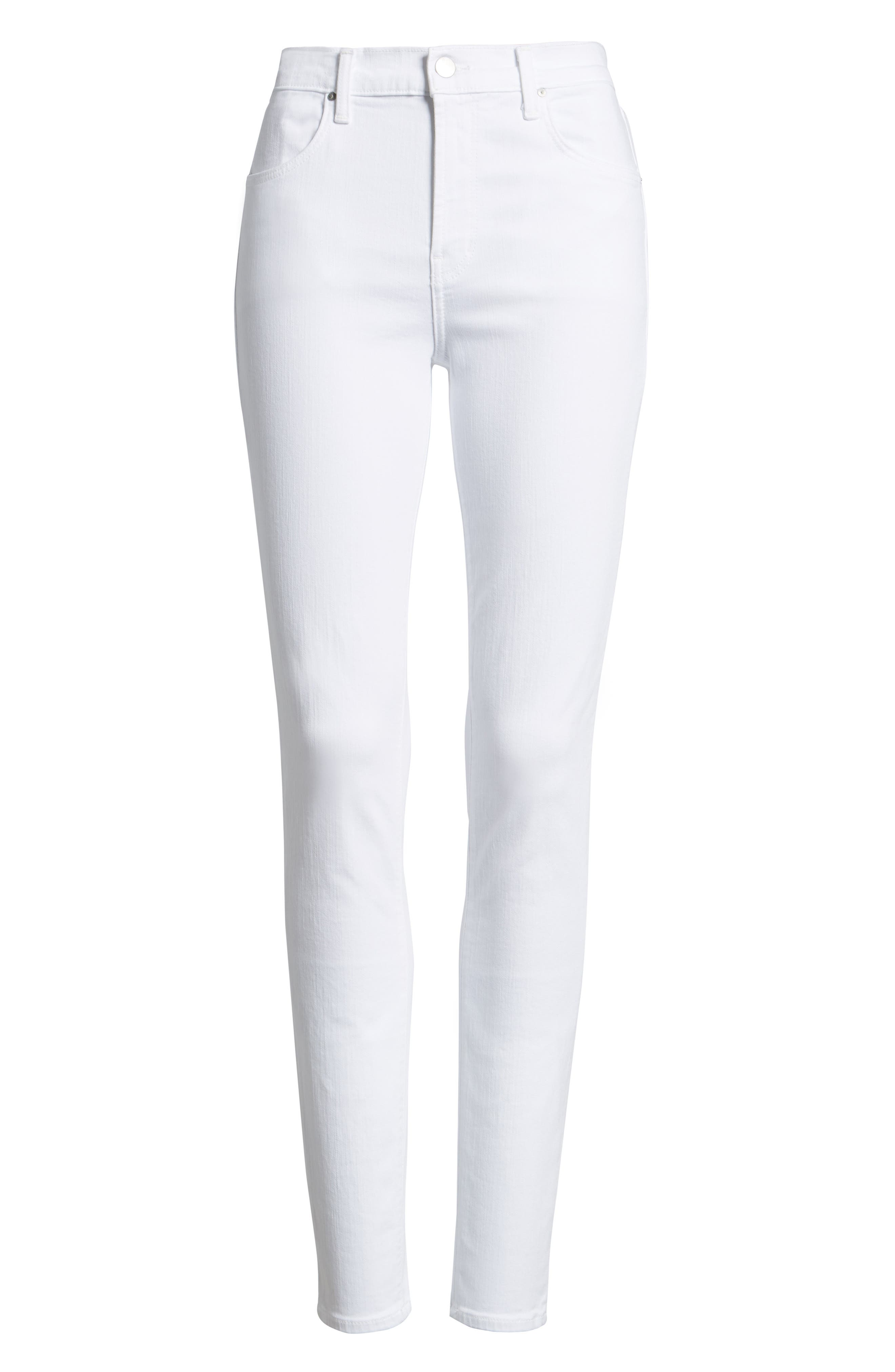 2311 Maria High Waist Super Skinny Jeans,                             Alternate thumbnail 6, color,                             Blanc