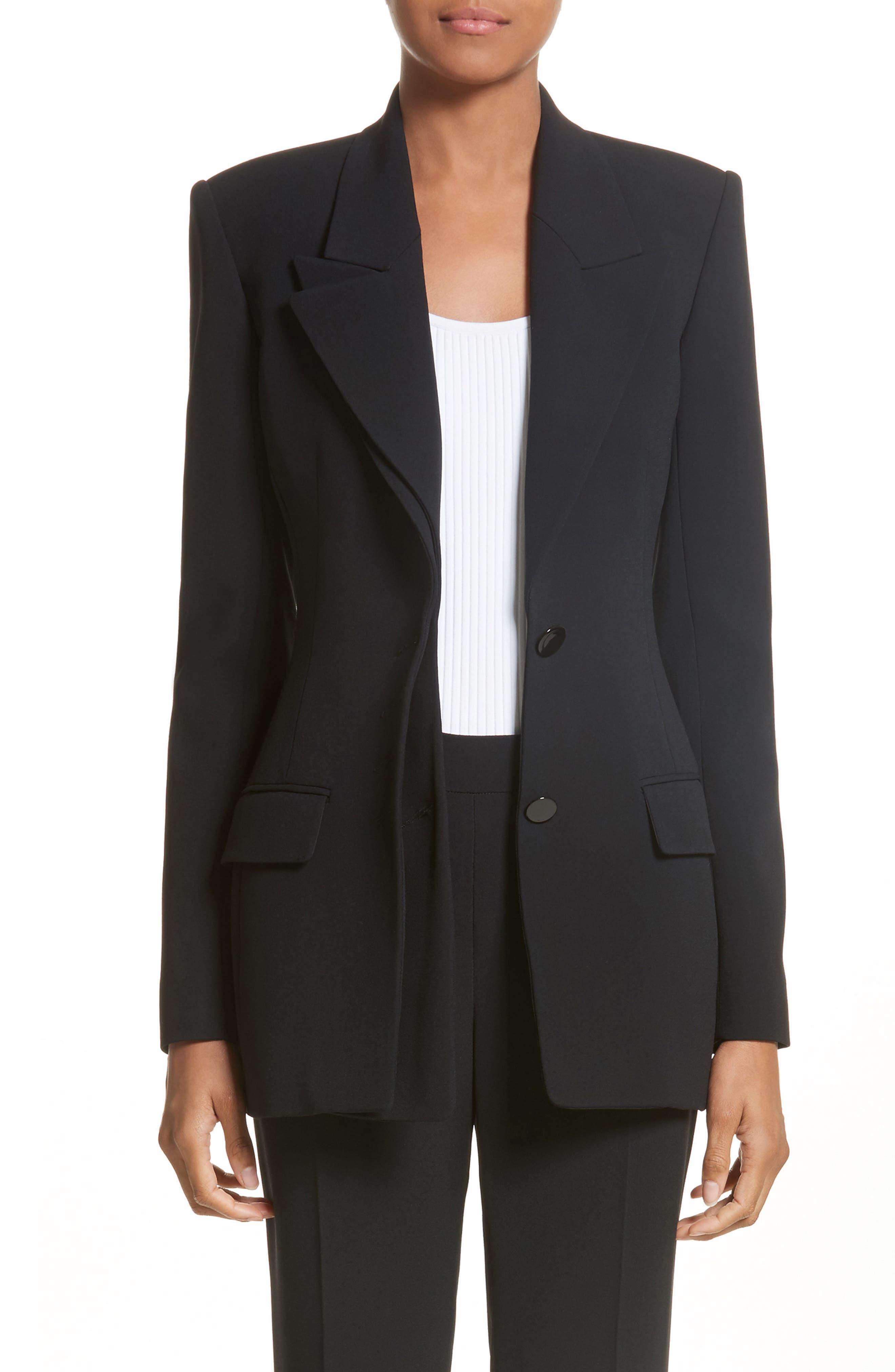 Multi Button Jacket,                             Alternate thumbnail 7, color,                             Black