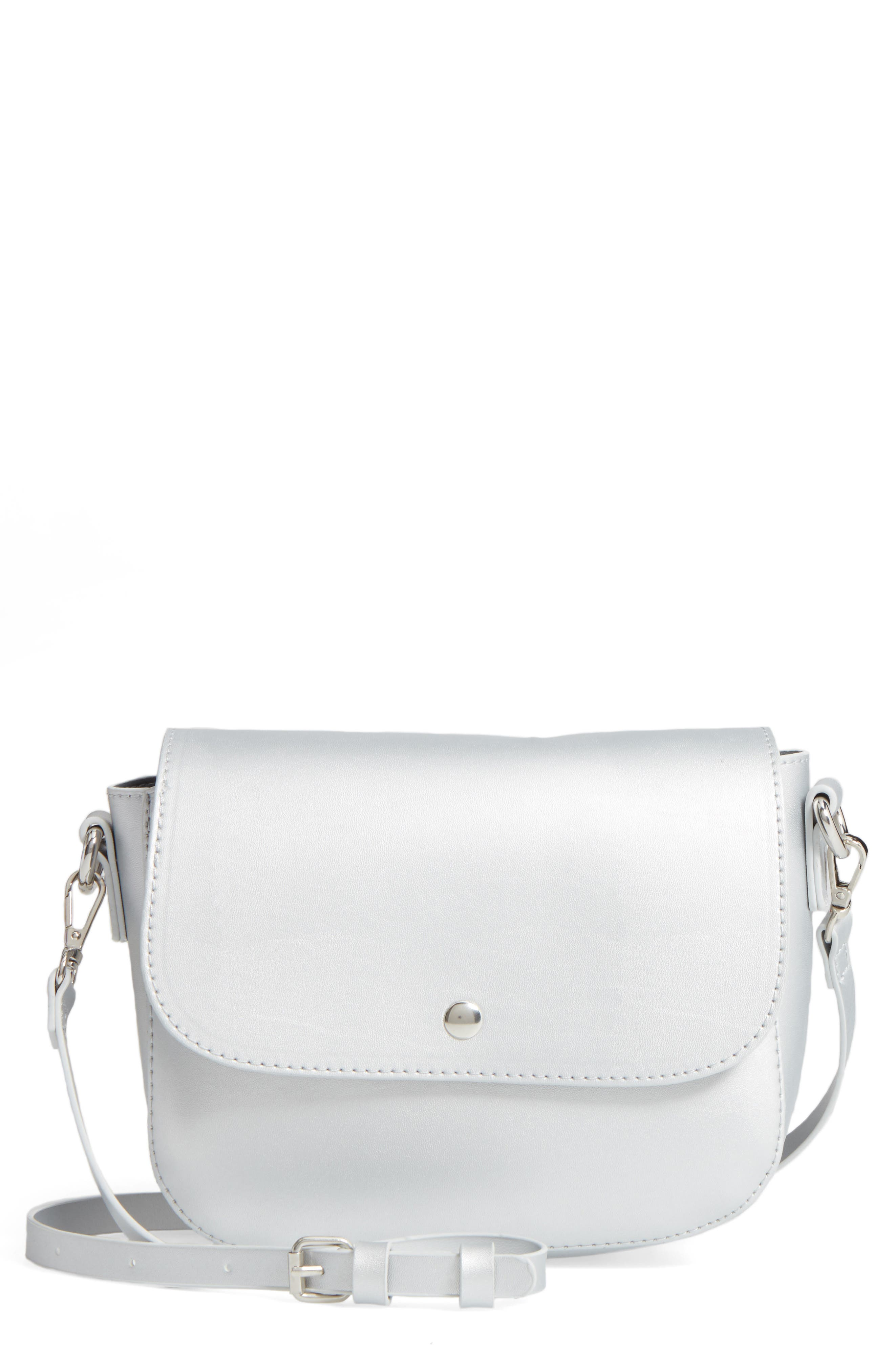 Main Image - BP. Minimal Faux Leather Crossbody Bag