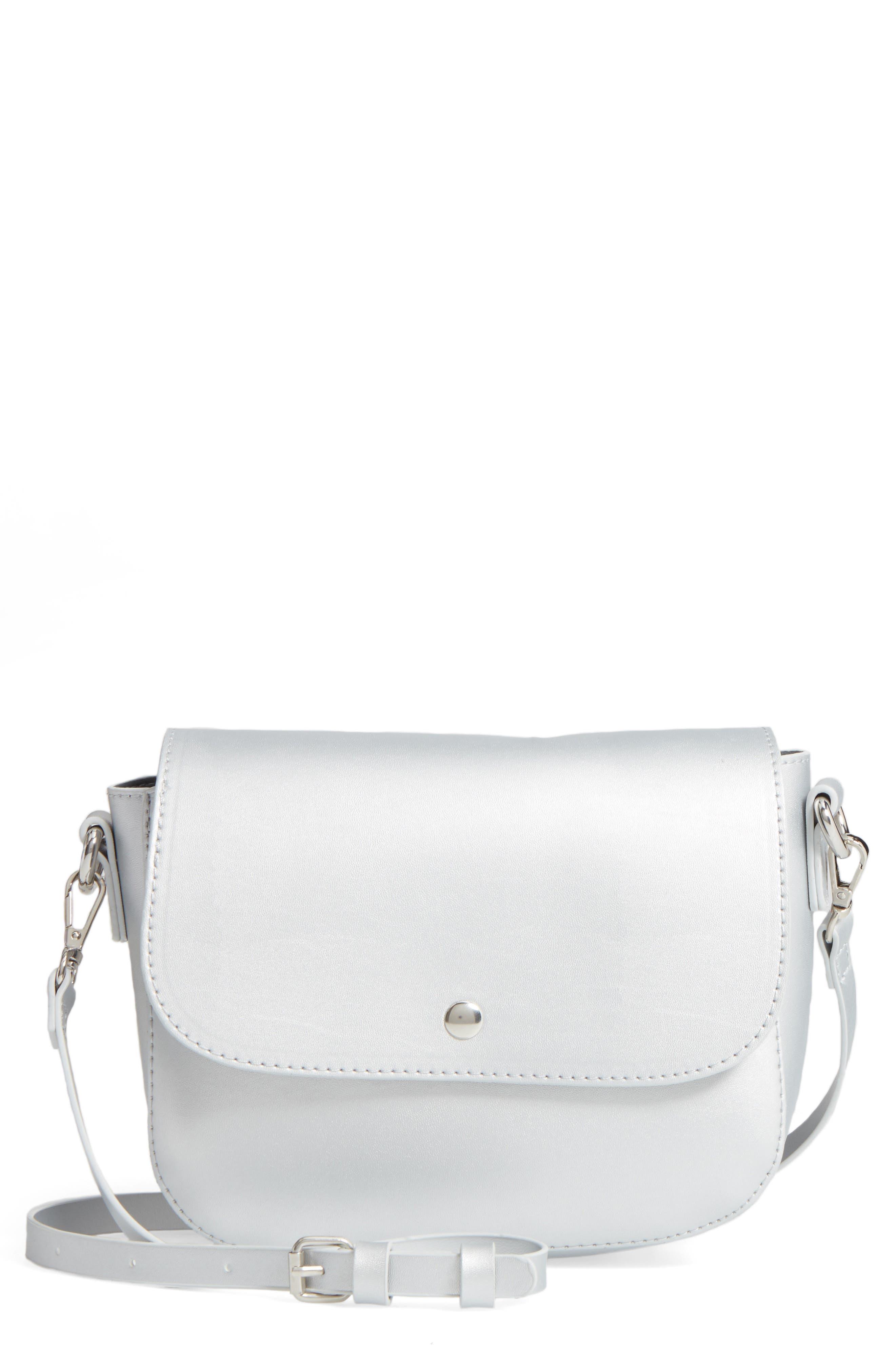 BP. Minimal Faux Leather Crossbody Bag
