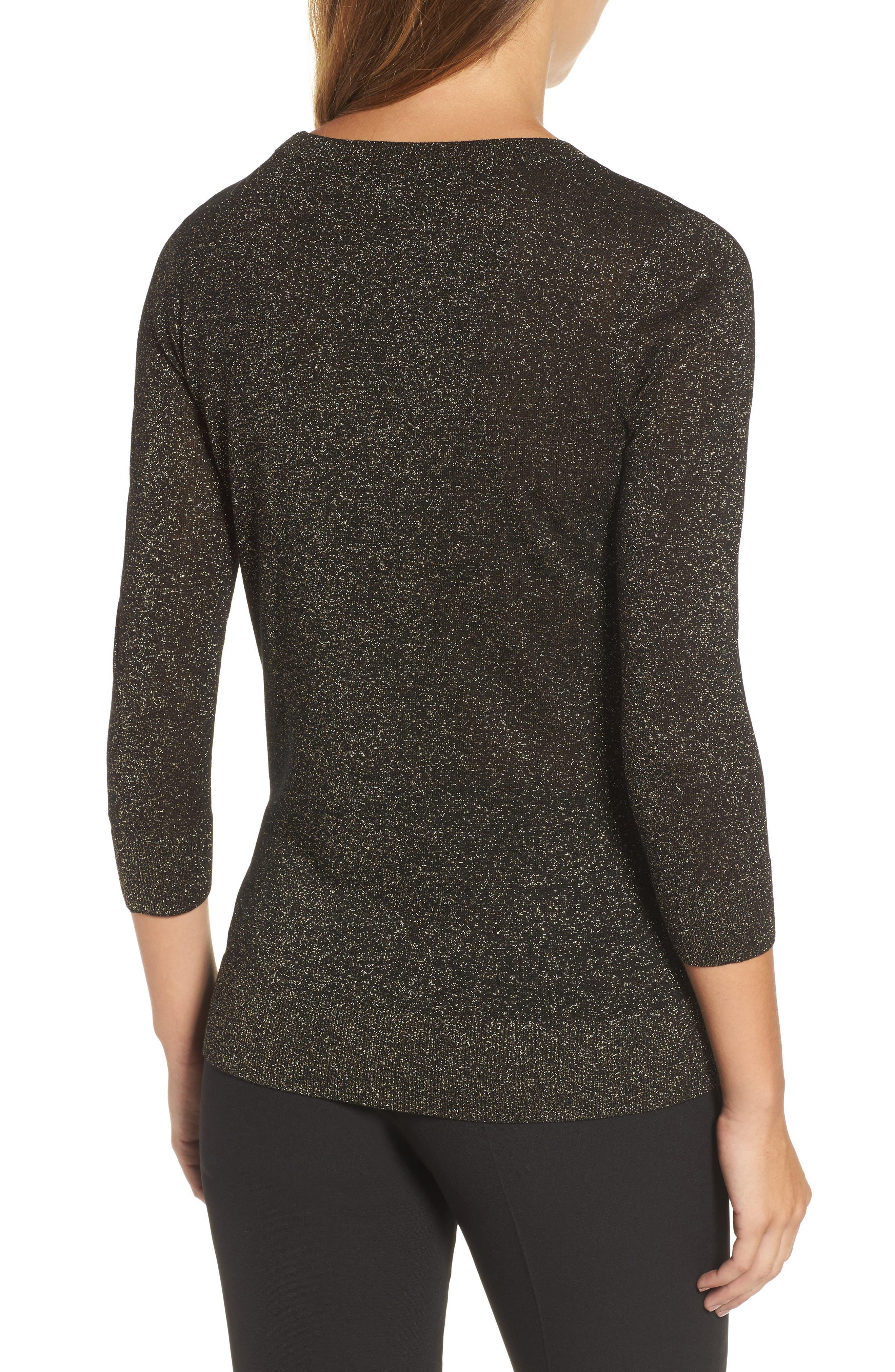 Shimmer Sweater,                             Alternate thumbnail 2, color,                             Black