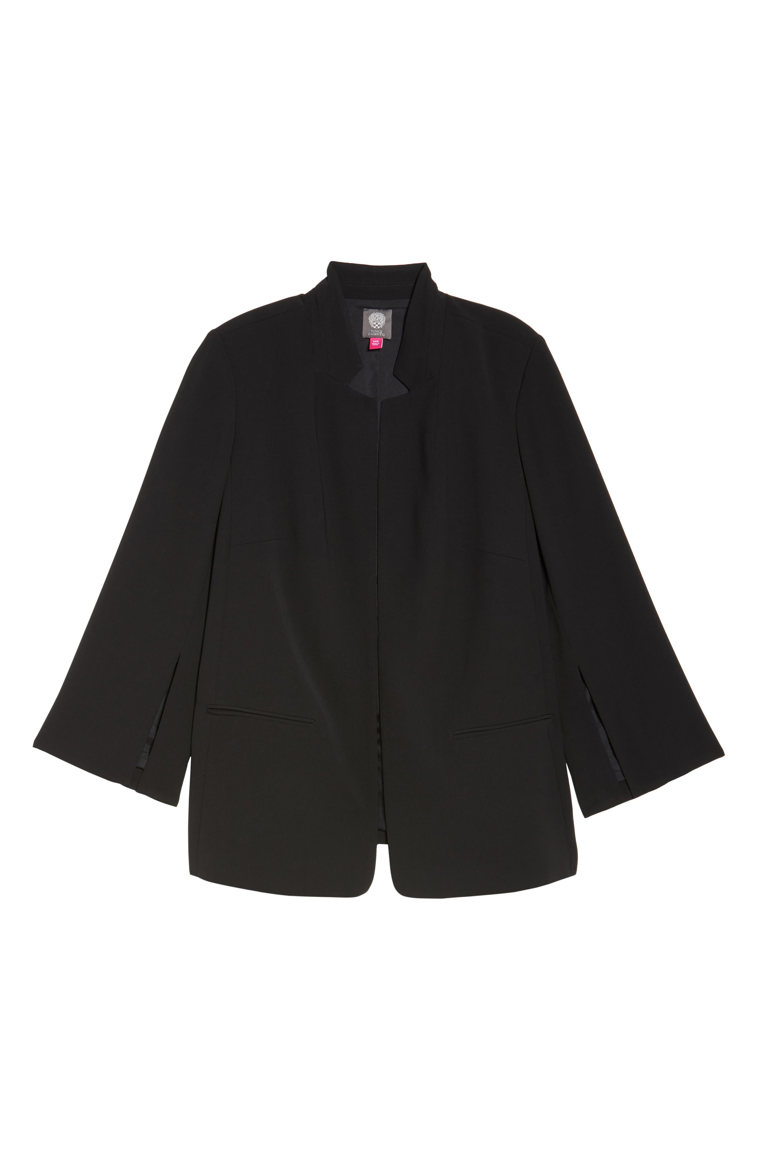 Split Bell Sleeve Blazer,                             Alternate thumbnail 6, color,                             Rich Black