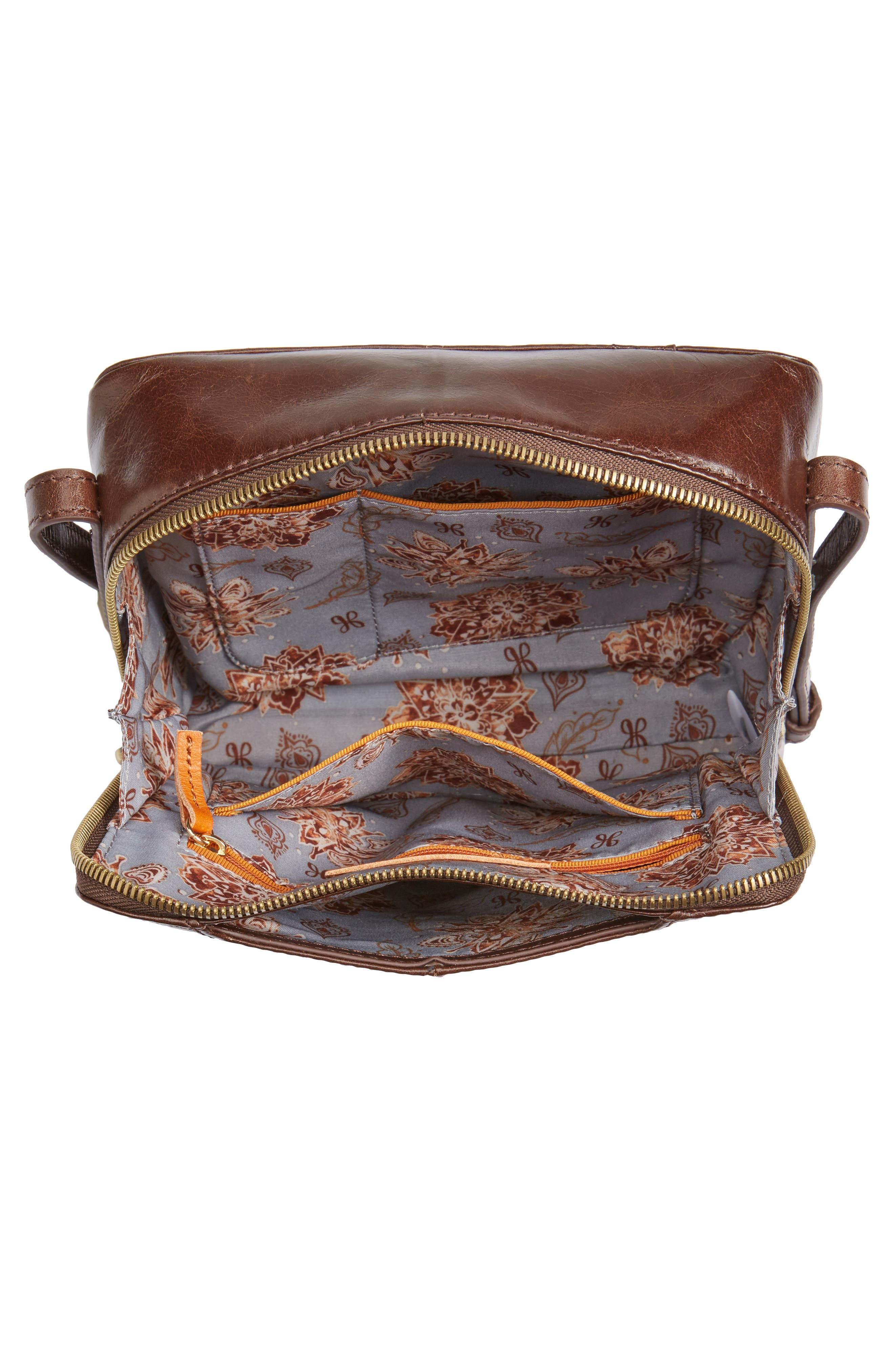 Lyric Leather Crossbody Bag,                             Alternate thumbnail 4, color,                             Espresso