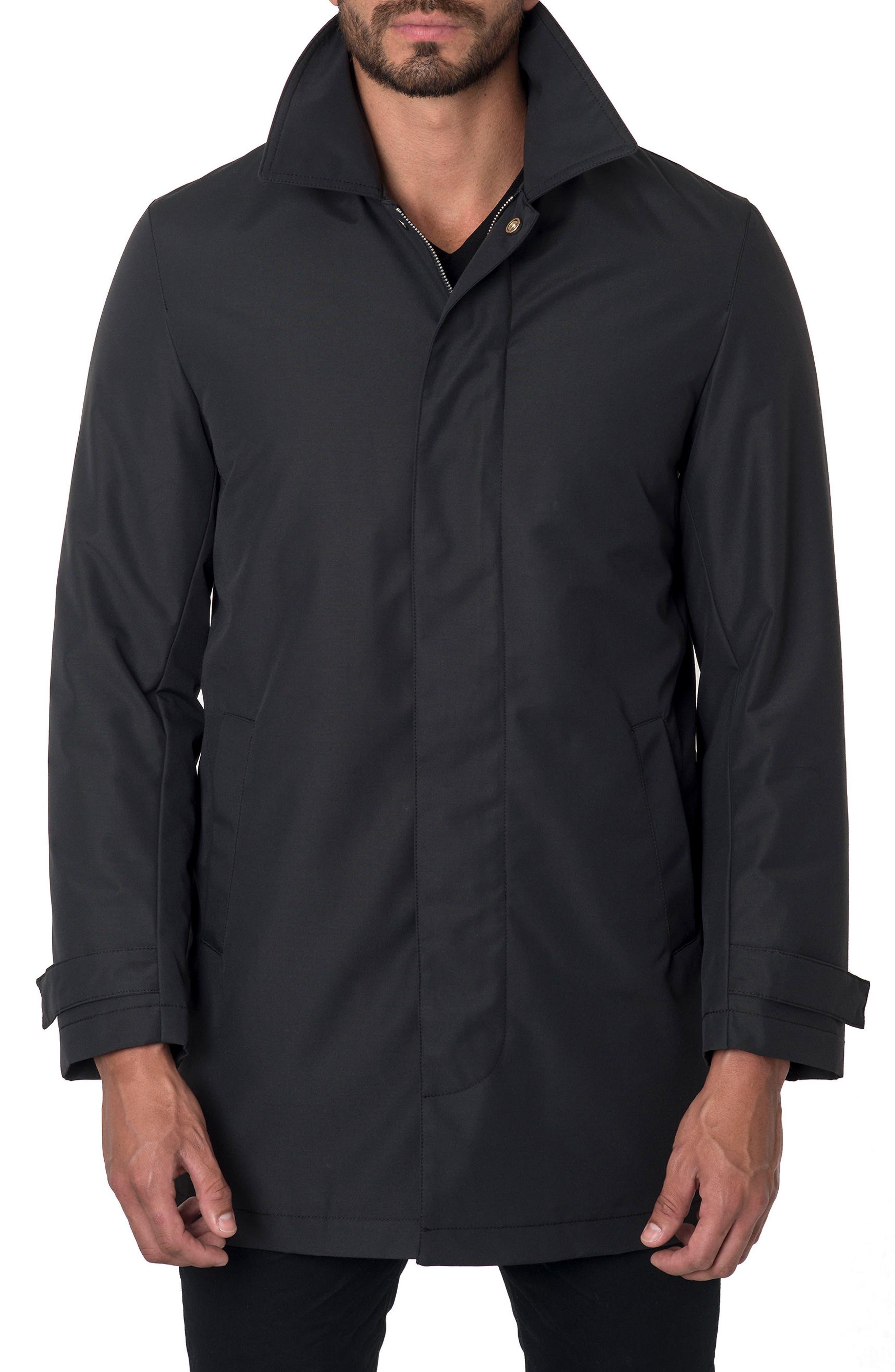 Water Repellent Jacket,                             Alternate thumbnail 3, color,                             Black Cotton Tek