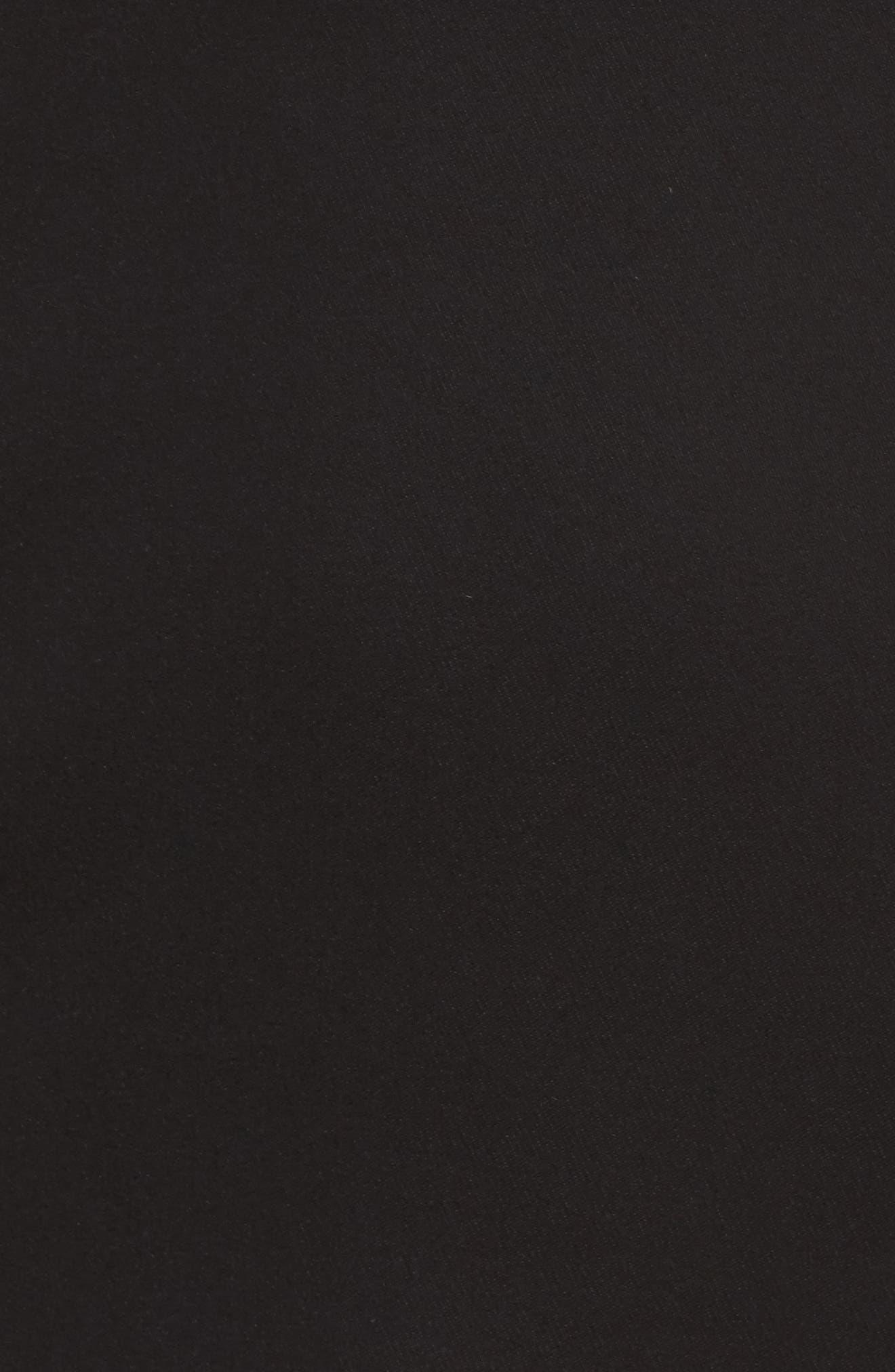 Paradise Off the Shoulder Midi Dress,                             Alternate thumbnail 5, color,                             Black