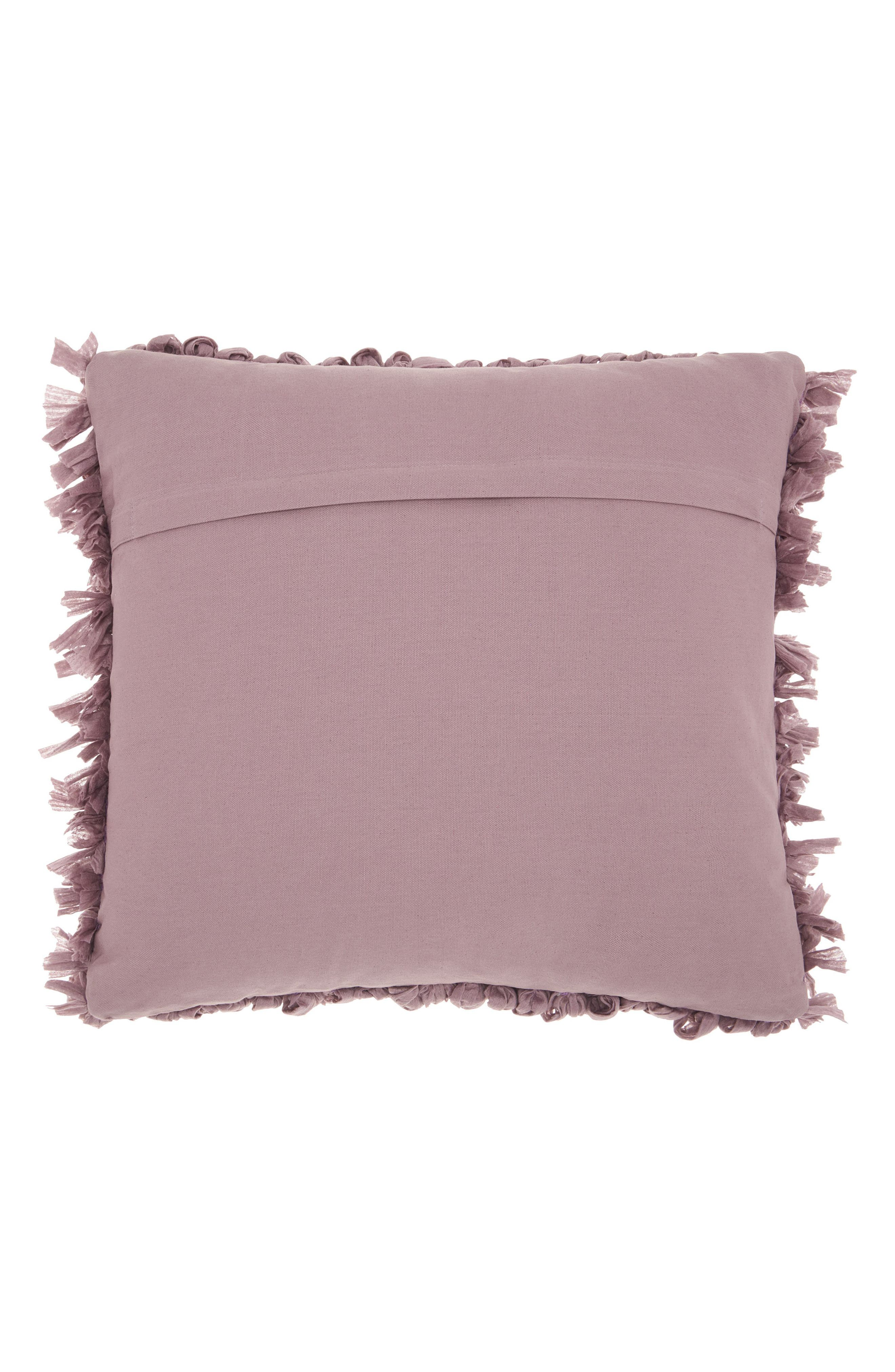 Alternate Image 2  - Mina Victory Paper Chindi Loop Shag Accent Pillow