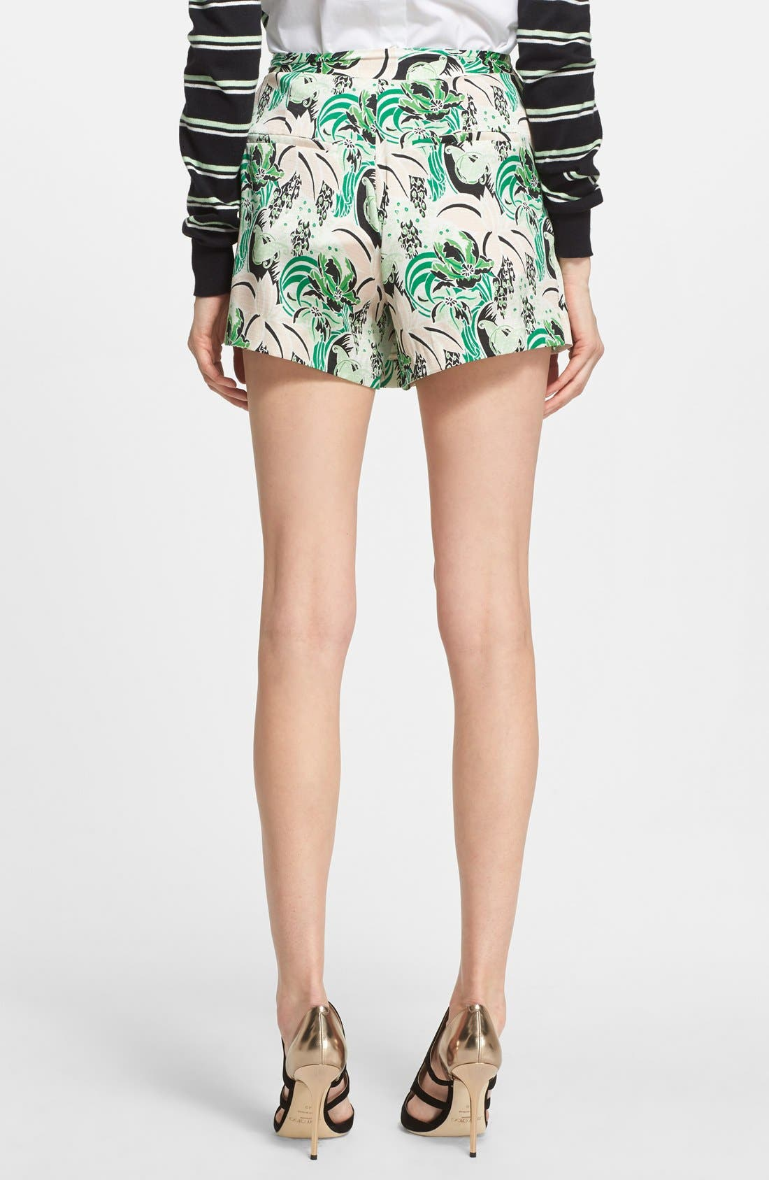 Alternate Image 2  - Veronica Beard Palm Garden Print Pleated Skort