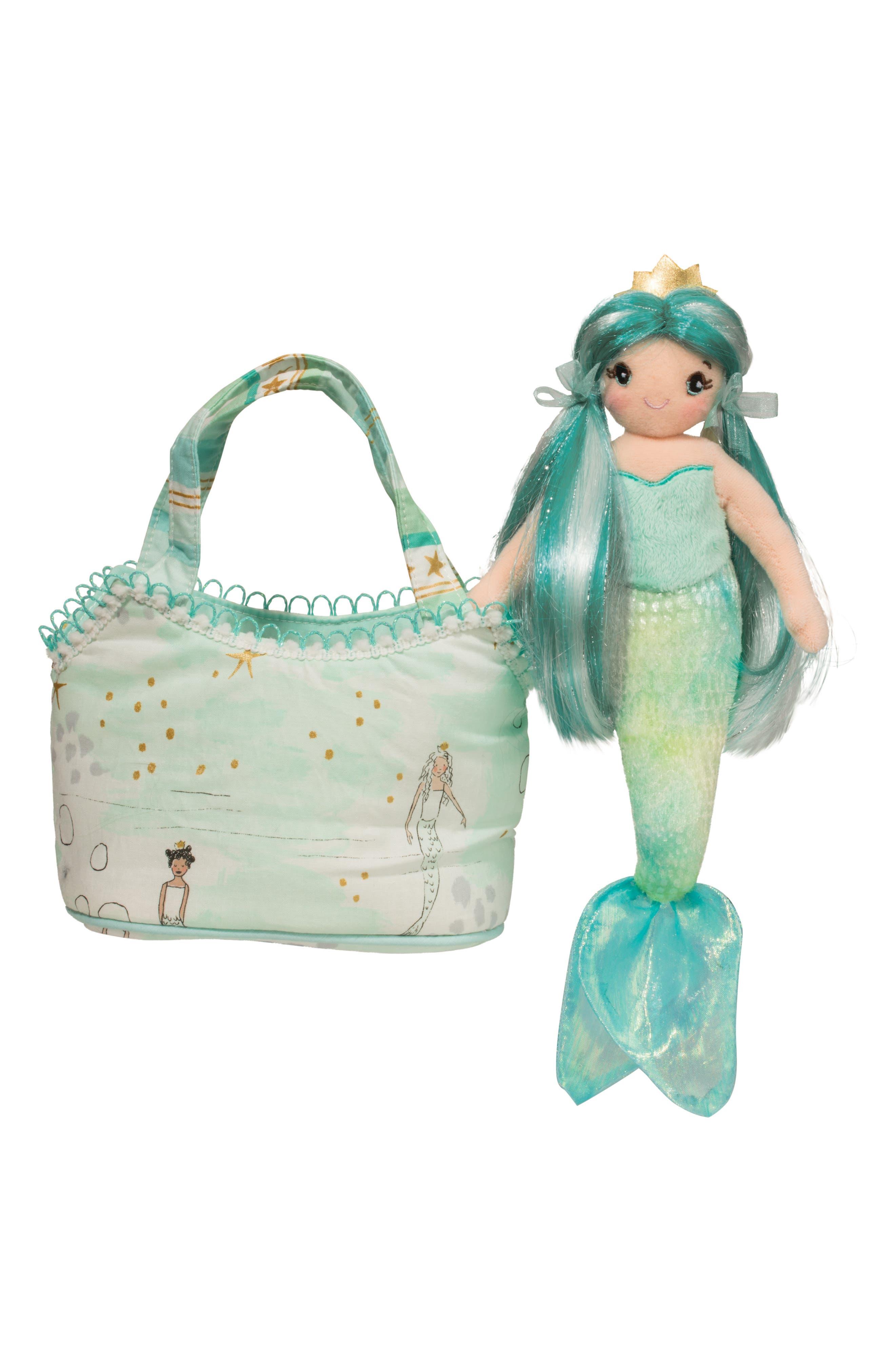 Alternate Image 1 Selected - Douglas Princess Mermaid Doll & Handbag