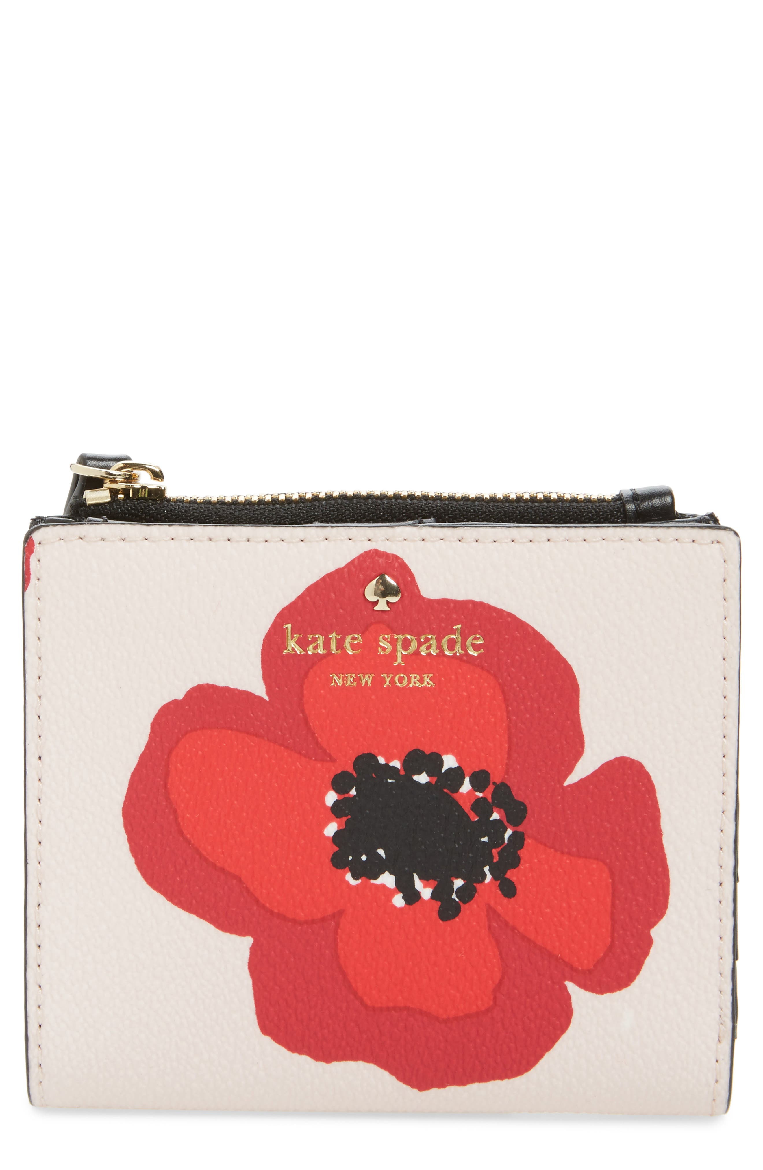 hyde lane poppy adalyn leather wallet,                             Main thumbnail 1, color,                             Rose Dew Multi