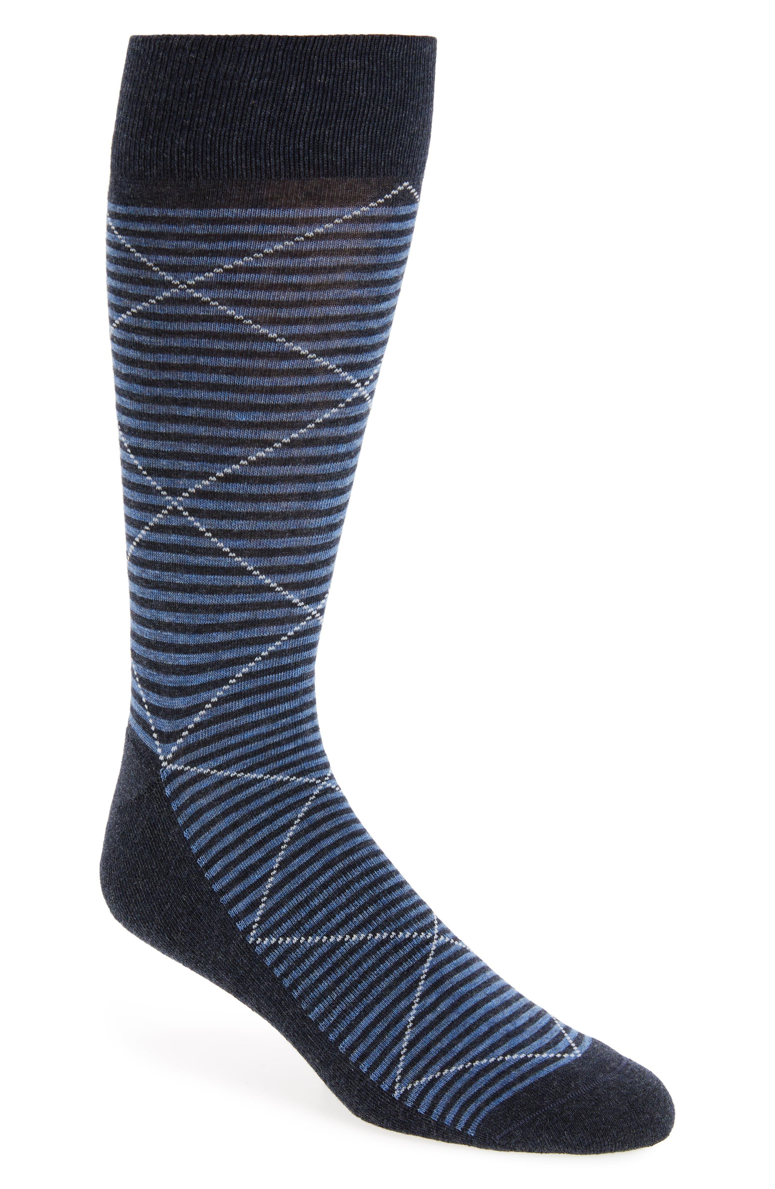 Argyle Socks,                         Main,                         color, Navy Heather