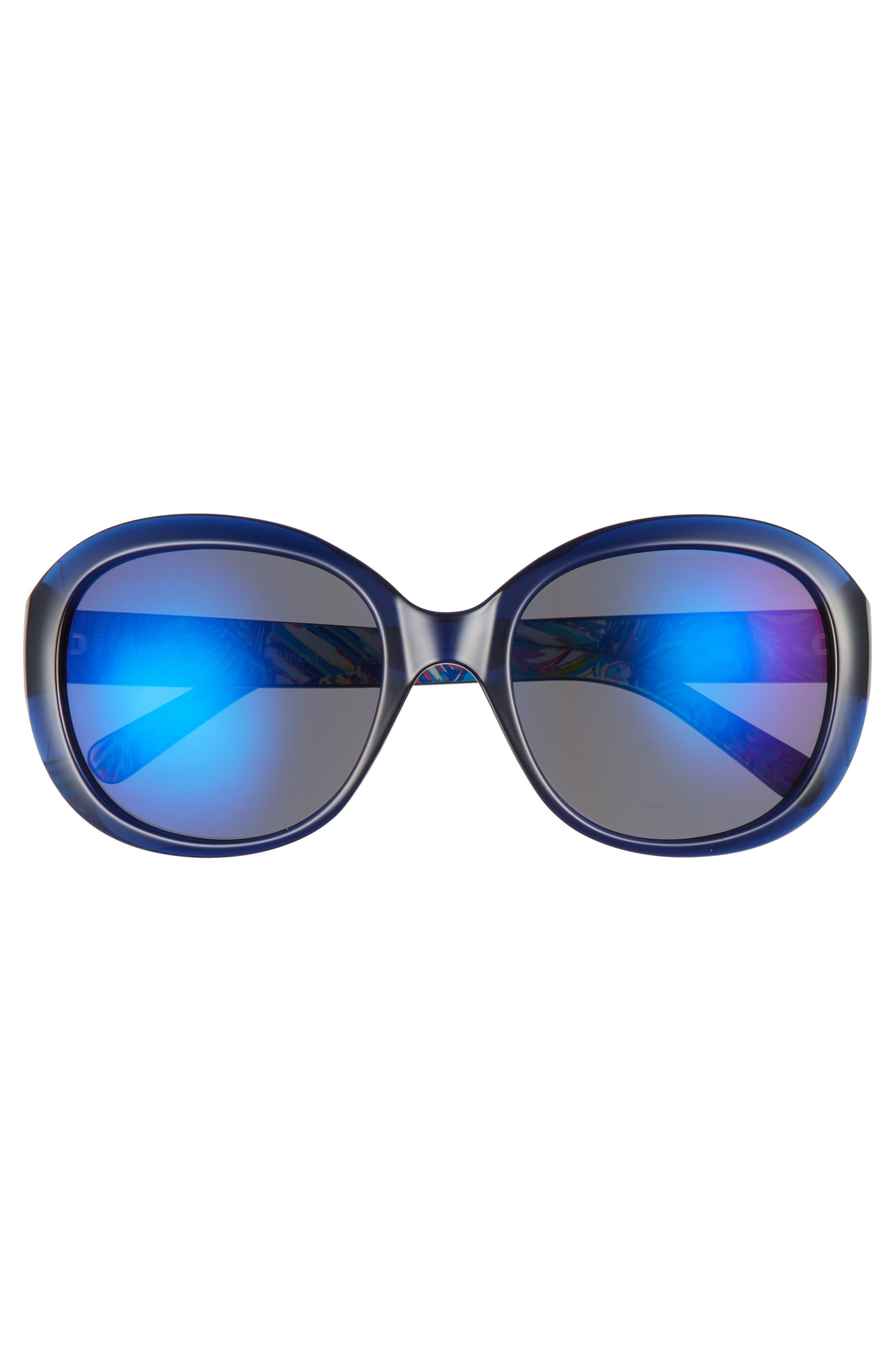 Alternate Image 2  - Lilly Pulitzer® Magnolia 57mm Polarized Round Sunglasses
