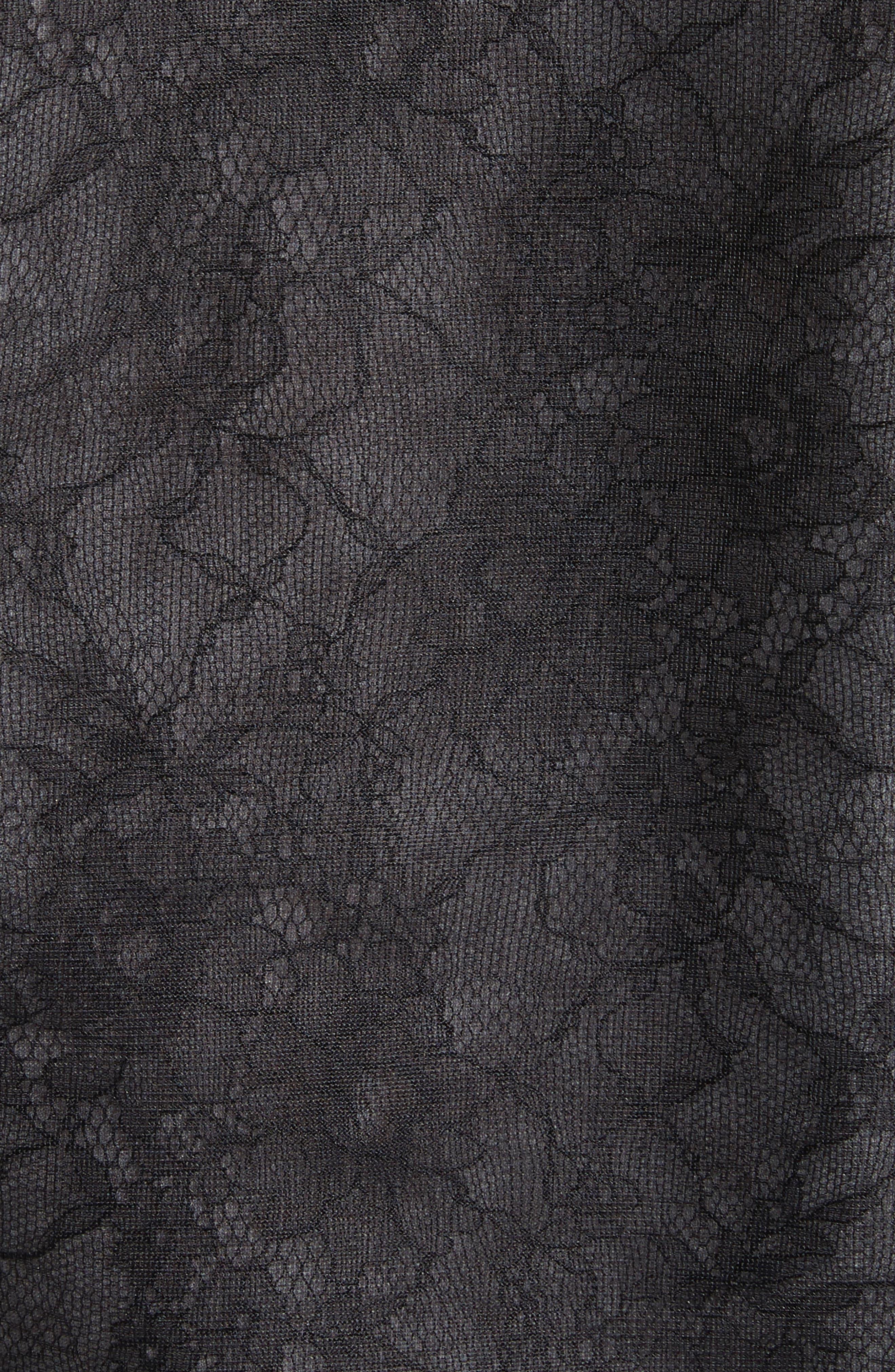 Lace Top,                             Alternate thumbnail 5, color,                             Black