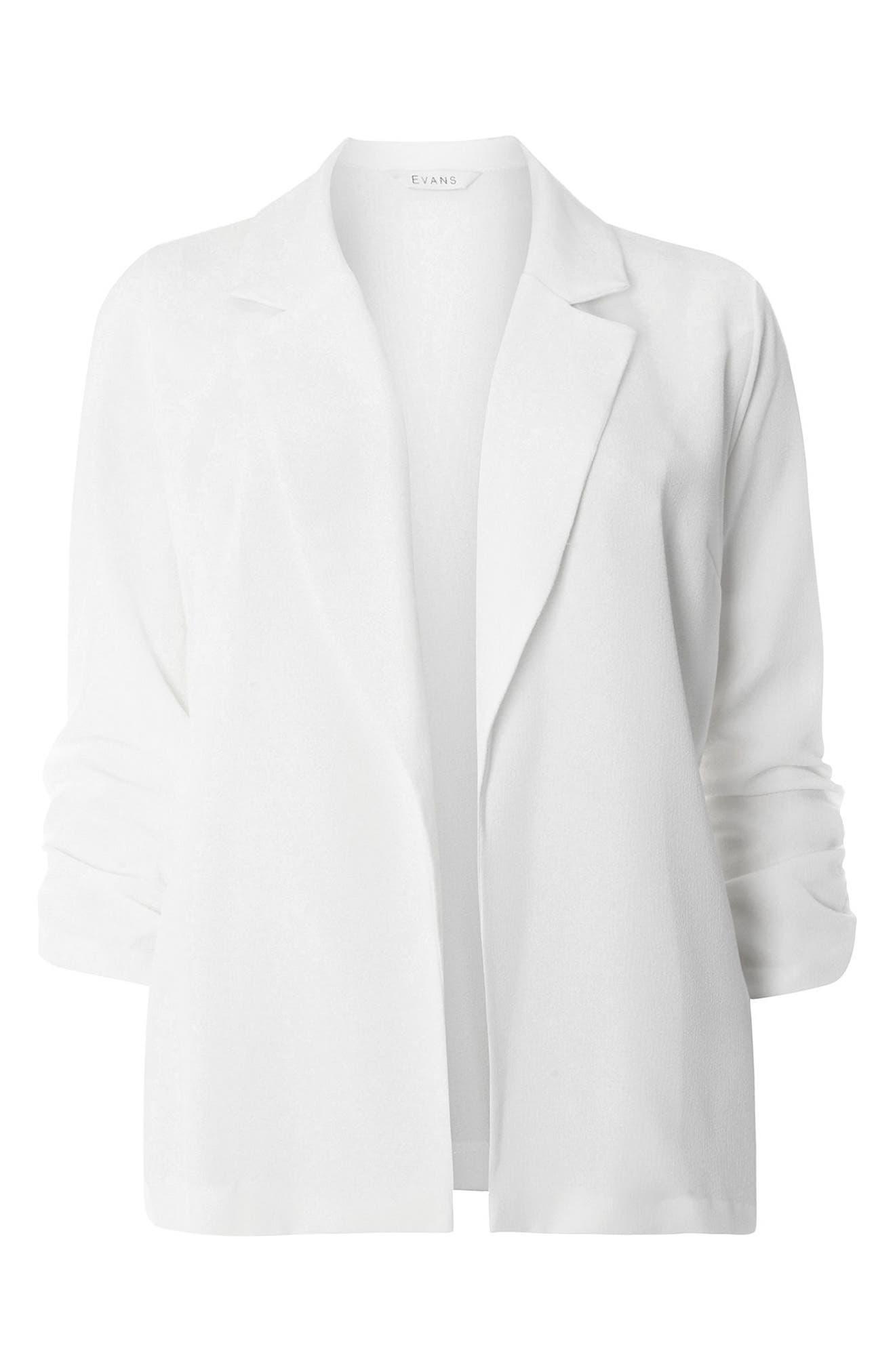 Alternate Image 5  - Evans Crepe Blazer (Plus Size)