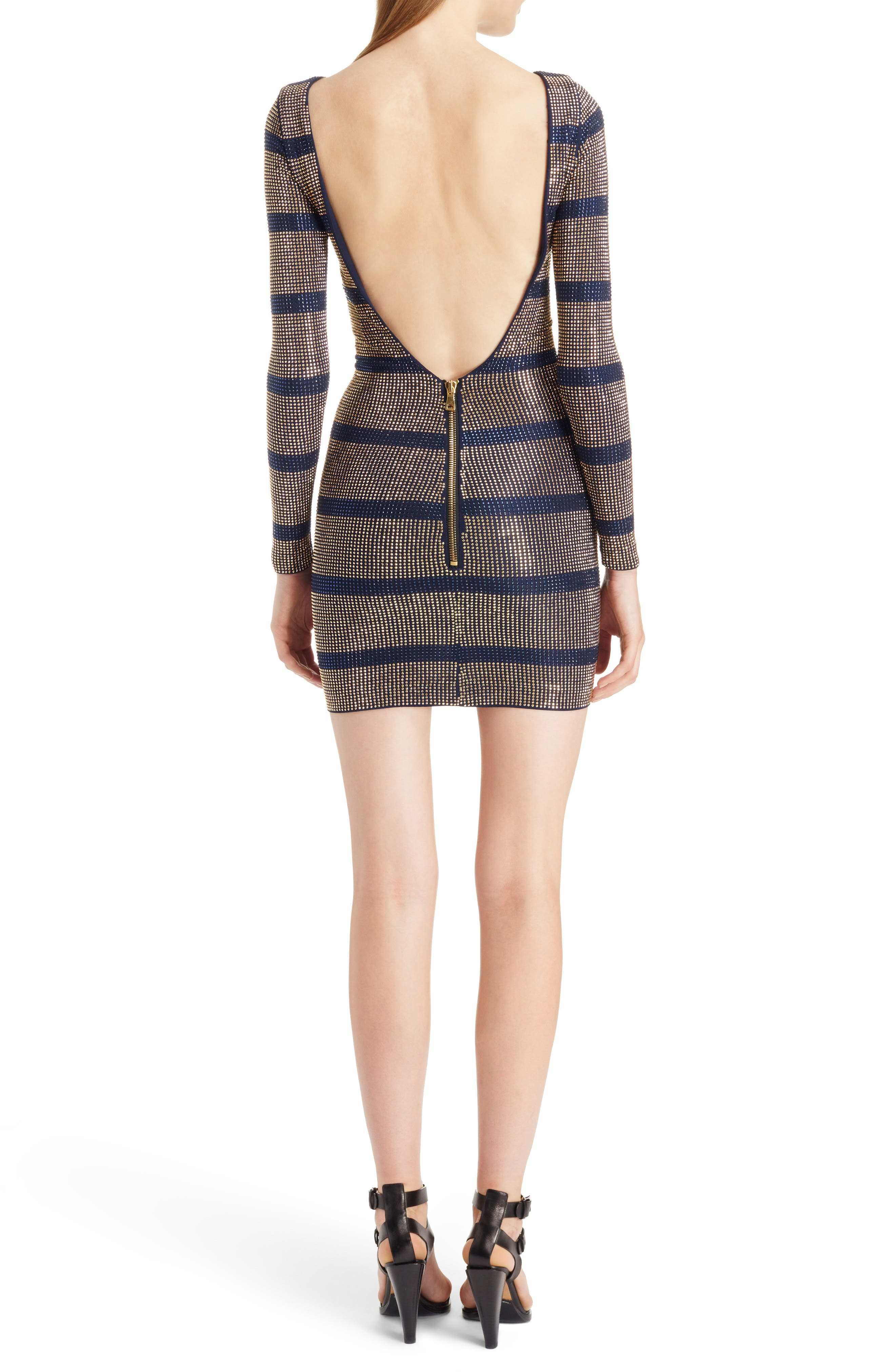 Alternate Image 2  - Balmain Embellished Stripe Minidress
