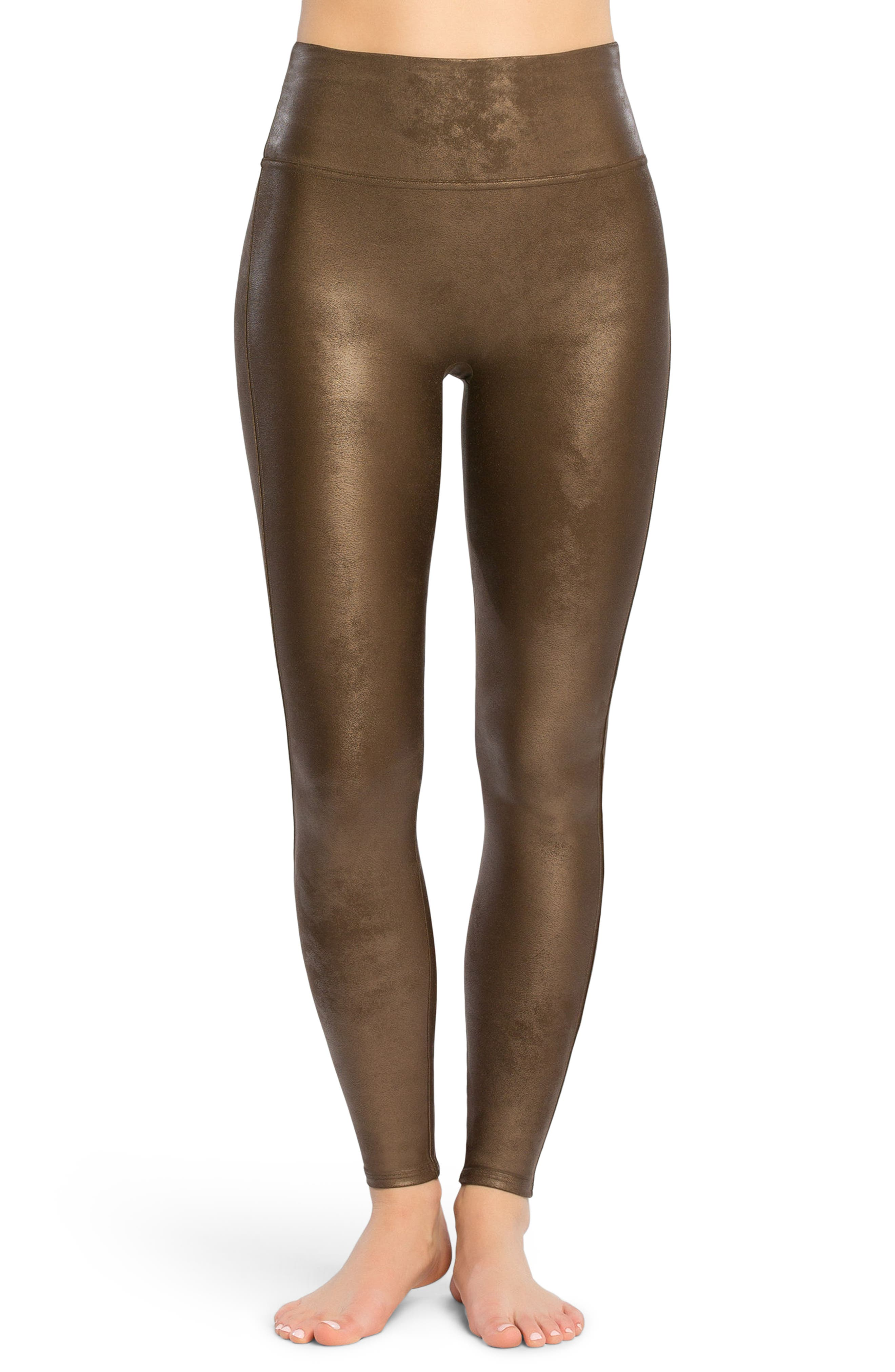 Alternate Image 1 Selected - SPANX® Faux Leather Leggings
