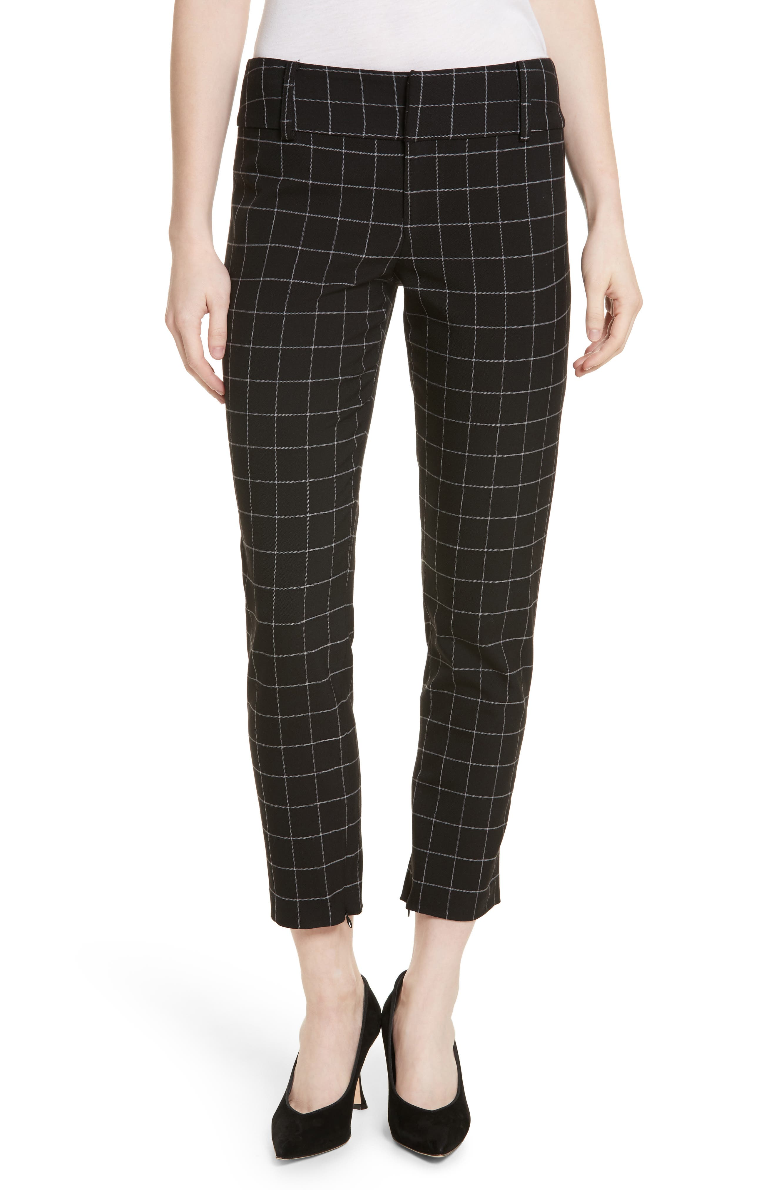 Stacey Slim Ankle Pants,                         Main,                         color, Black/ White