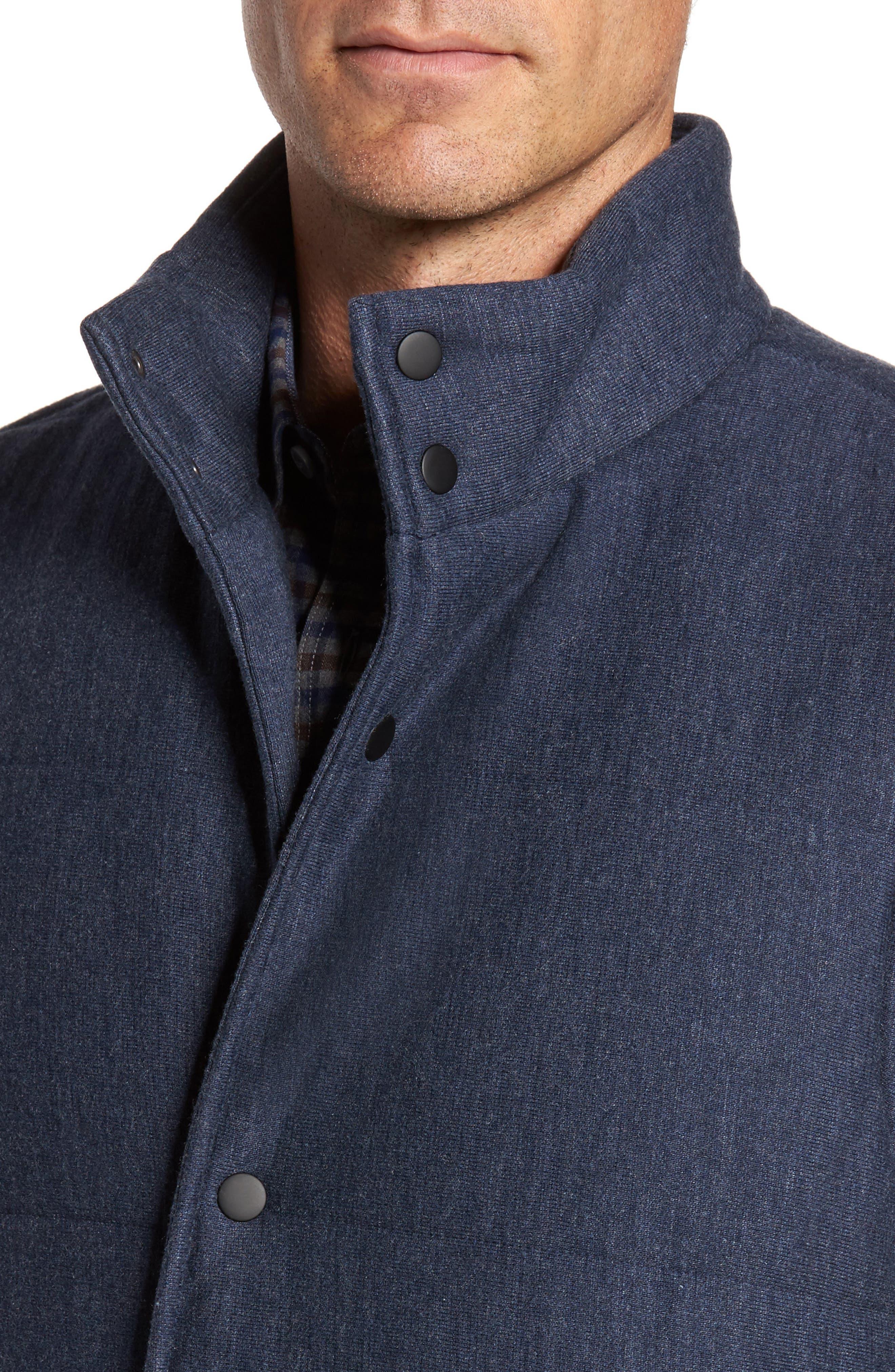 Quilted Fleece Vest,                             Alternate thumbnail 4, color,                             Navy Iris Heather