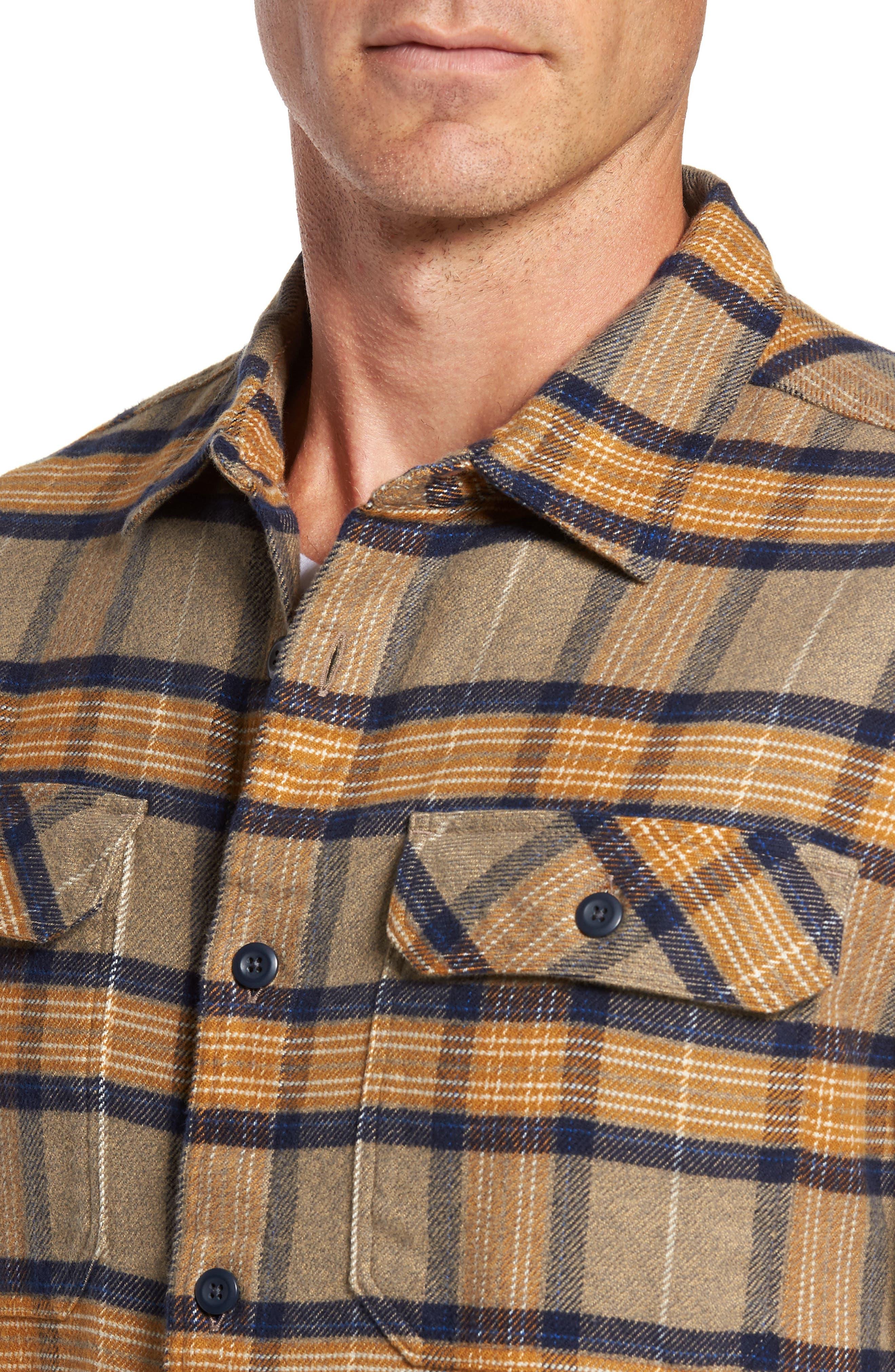 'Fjord' Regular Fit Organic Cotton Flannel Shirt,                             Alternate thumbnail 2, color,                             Migration Plaid Mojave Khaki