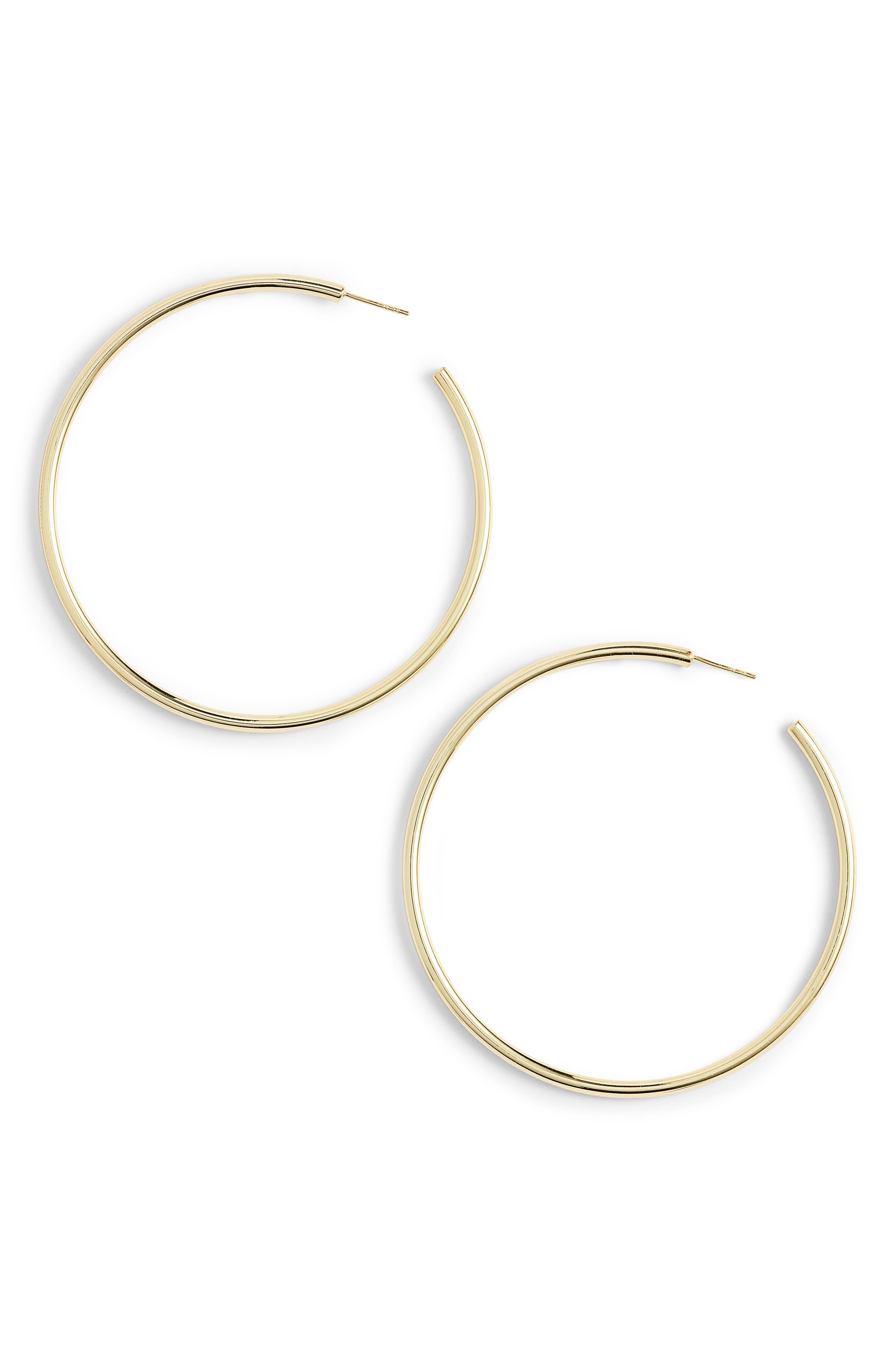 Main Image - Argento Vivo Large Hoop Earrings