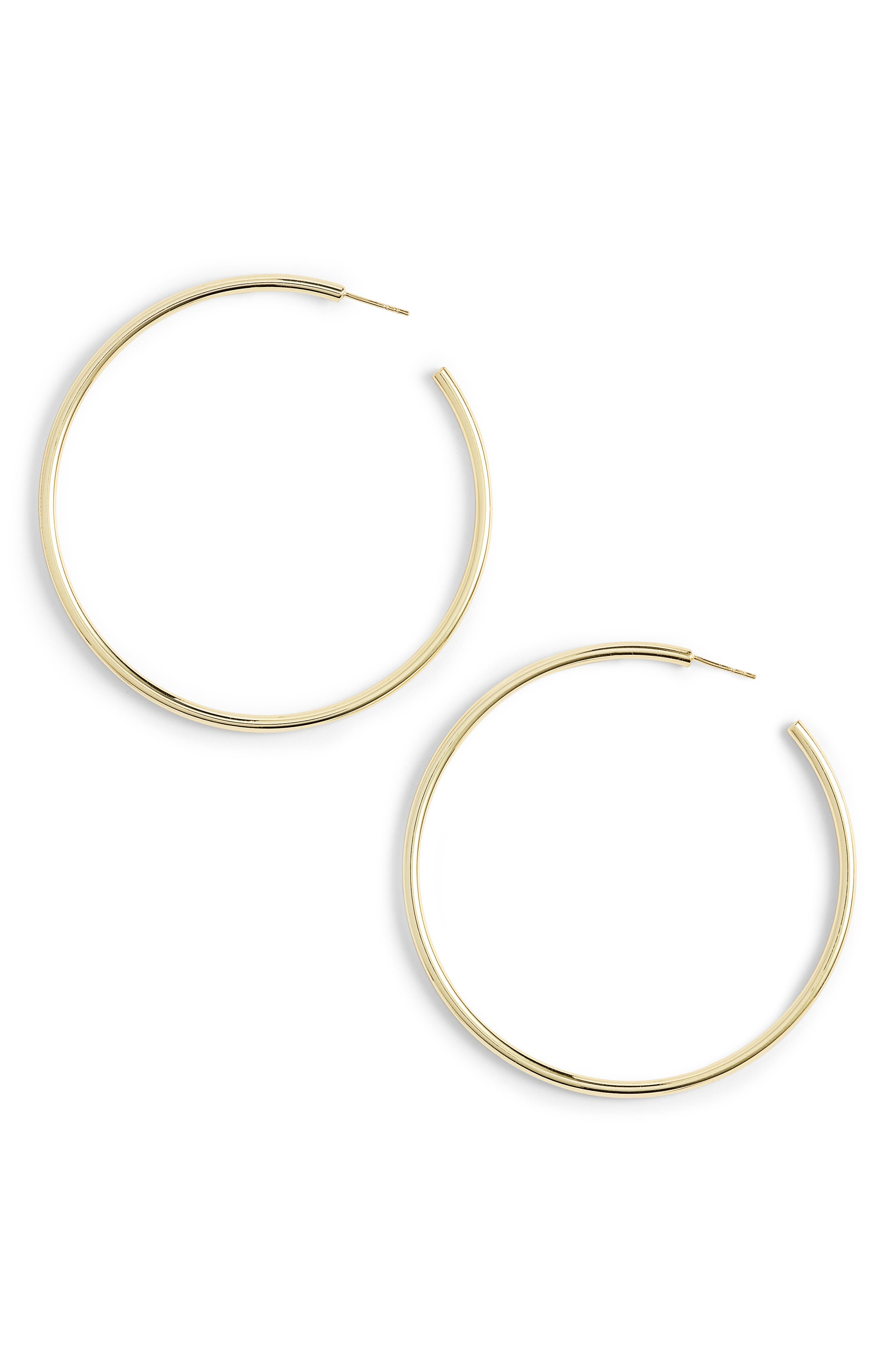 Argento Vivo Large Hoop Earrings