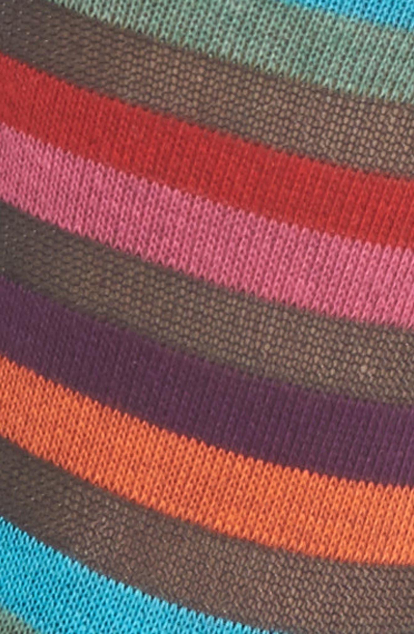 Felicity Rainbow Socks,                             Alternate thumbnail 2, color,                             Black Multi