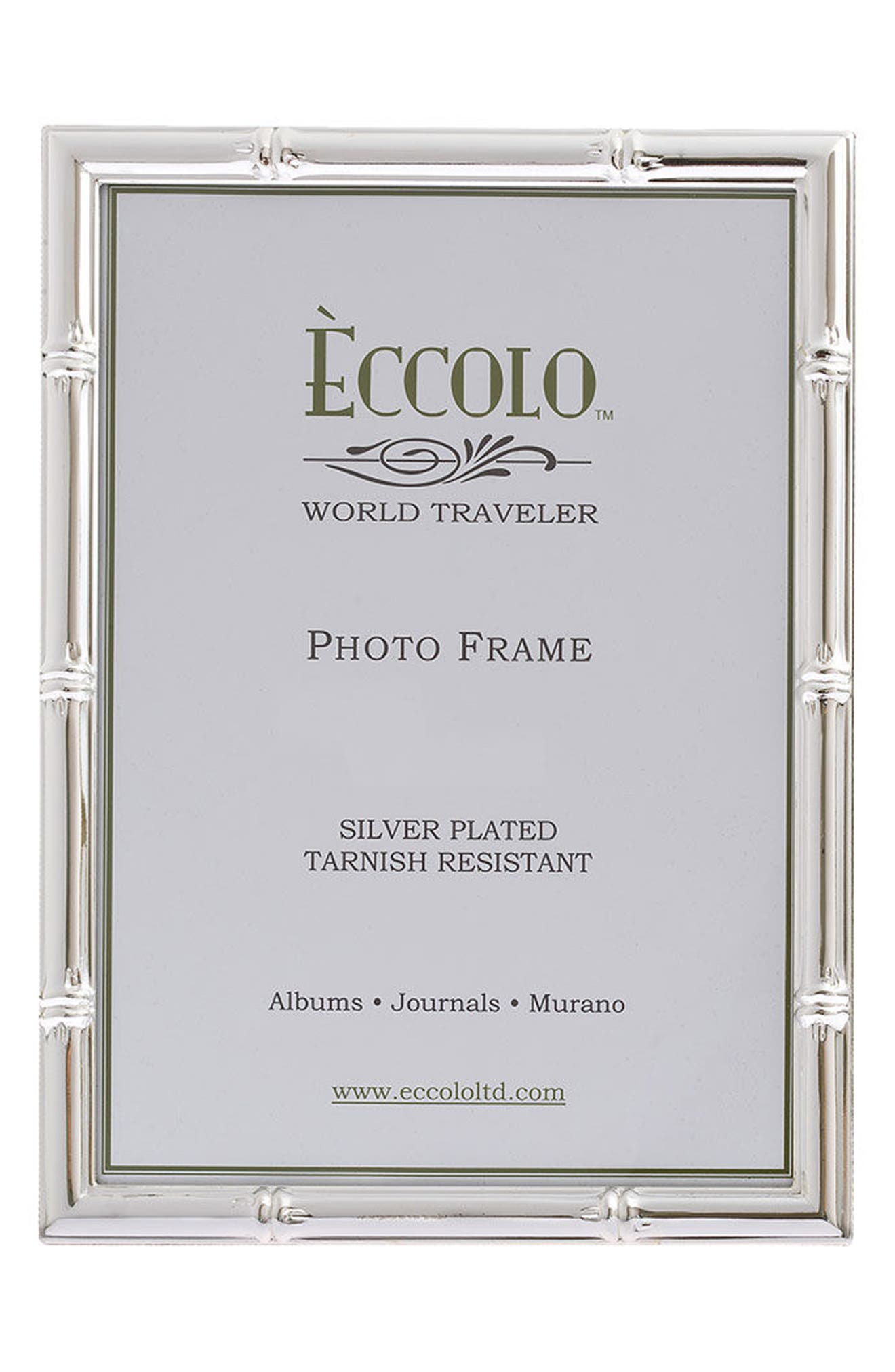 Eccolo Bamboo Silver Picture Frame
