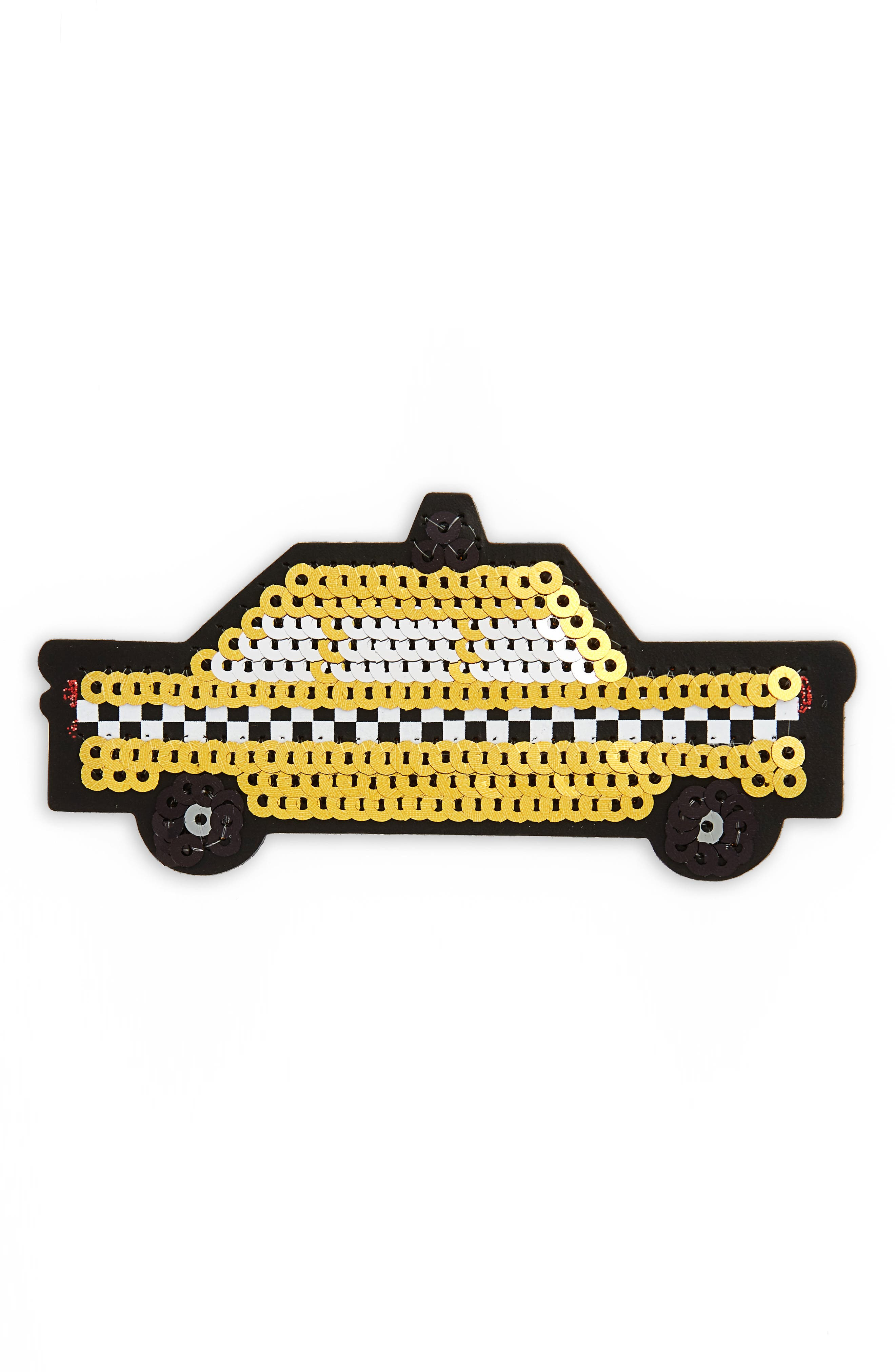 kate spade new york ashe place sequin taxi permanent sticker