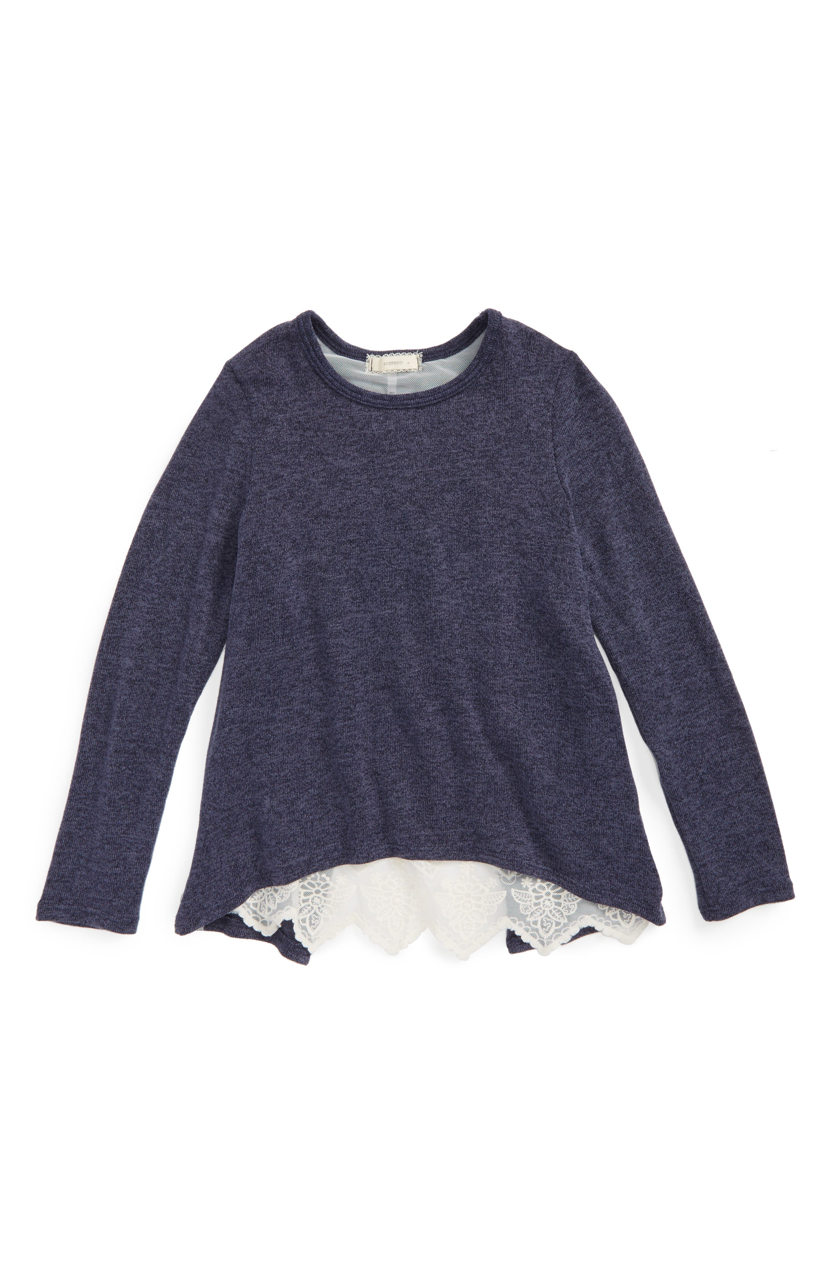 Soprano Lace Back Sweater (Big Girls)