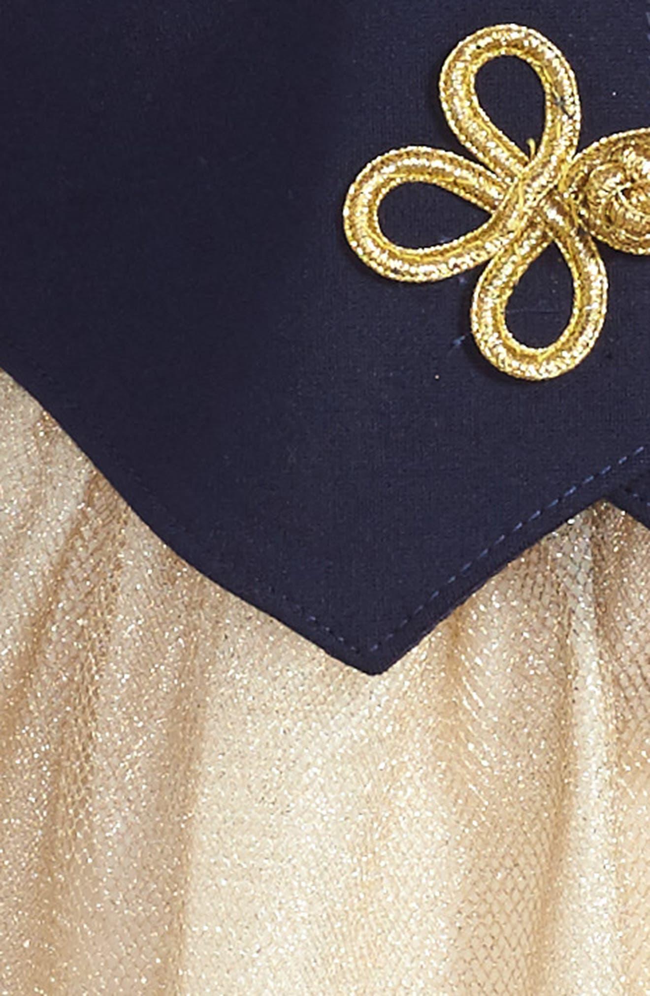 Majorette Jacket & Tank Dress Set,                             Alternate thumbnail 4, color,                             Navy/ Gold