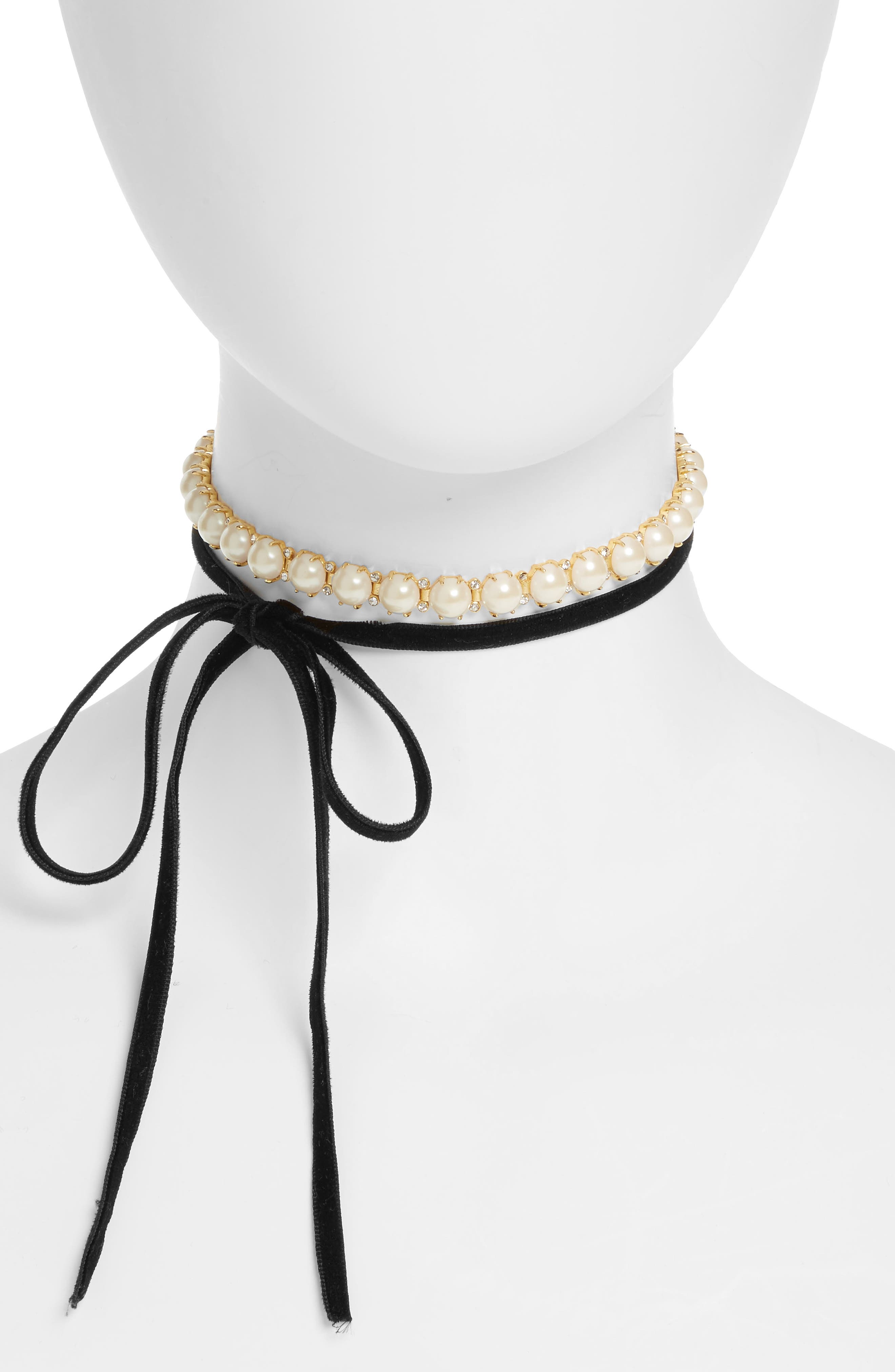 kate spade new york girls in pearls wrap choker