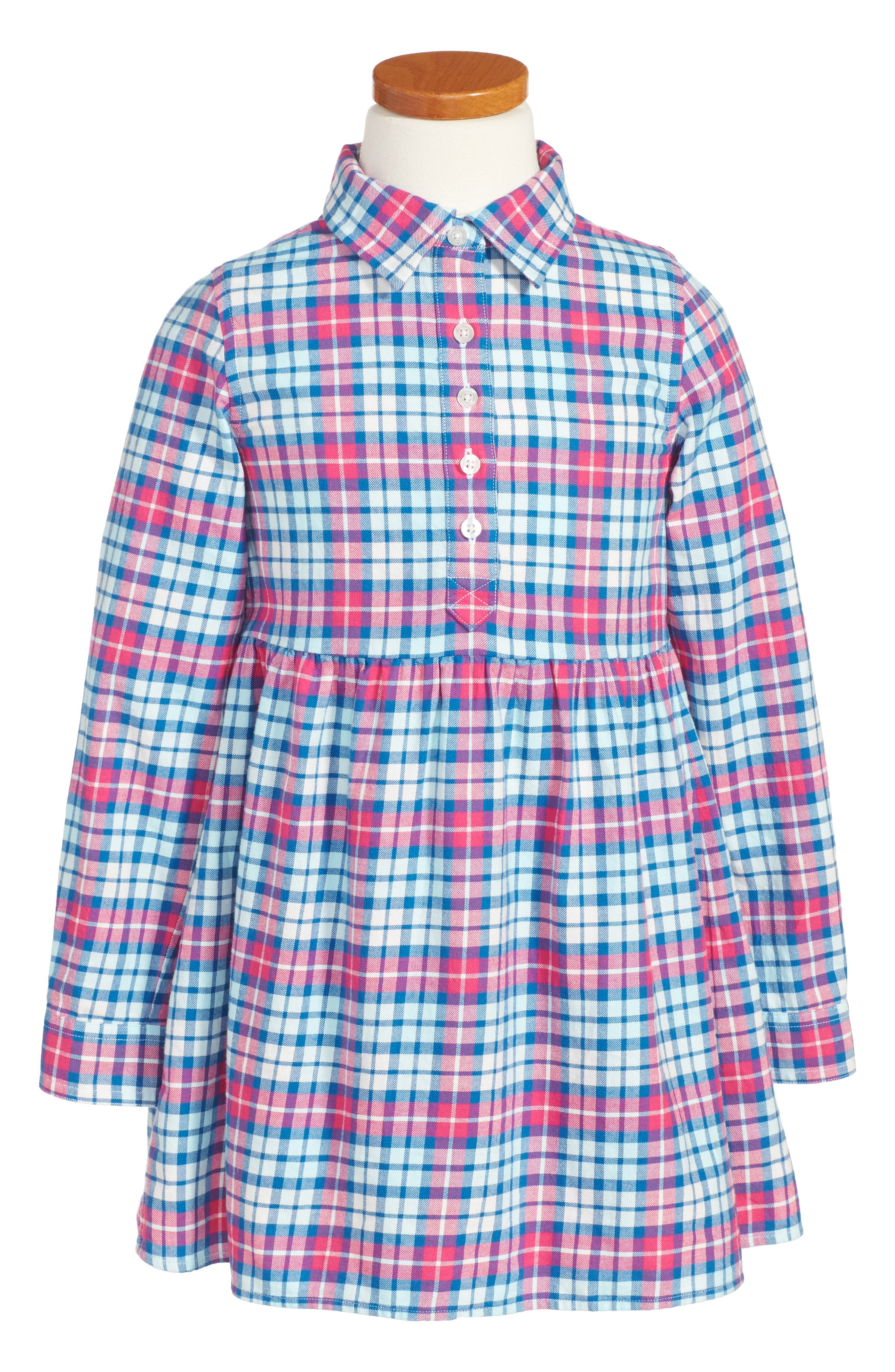 vineyard vines Piper Plaid Flannel Shirtdress (Toddler Girls, Little Girls & Big Girls)